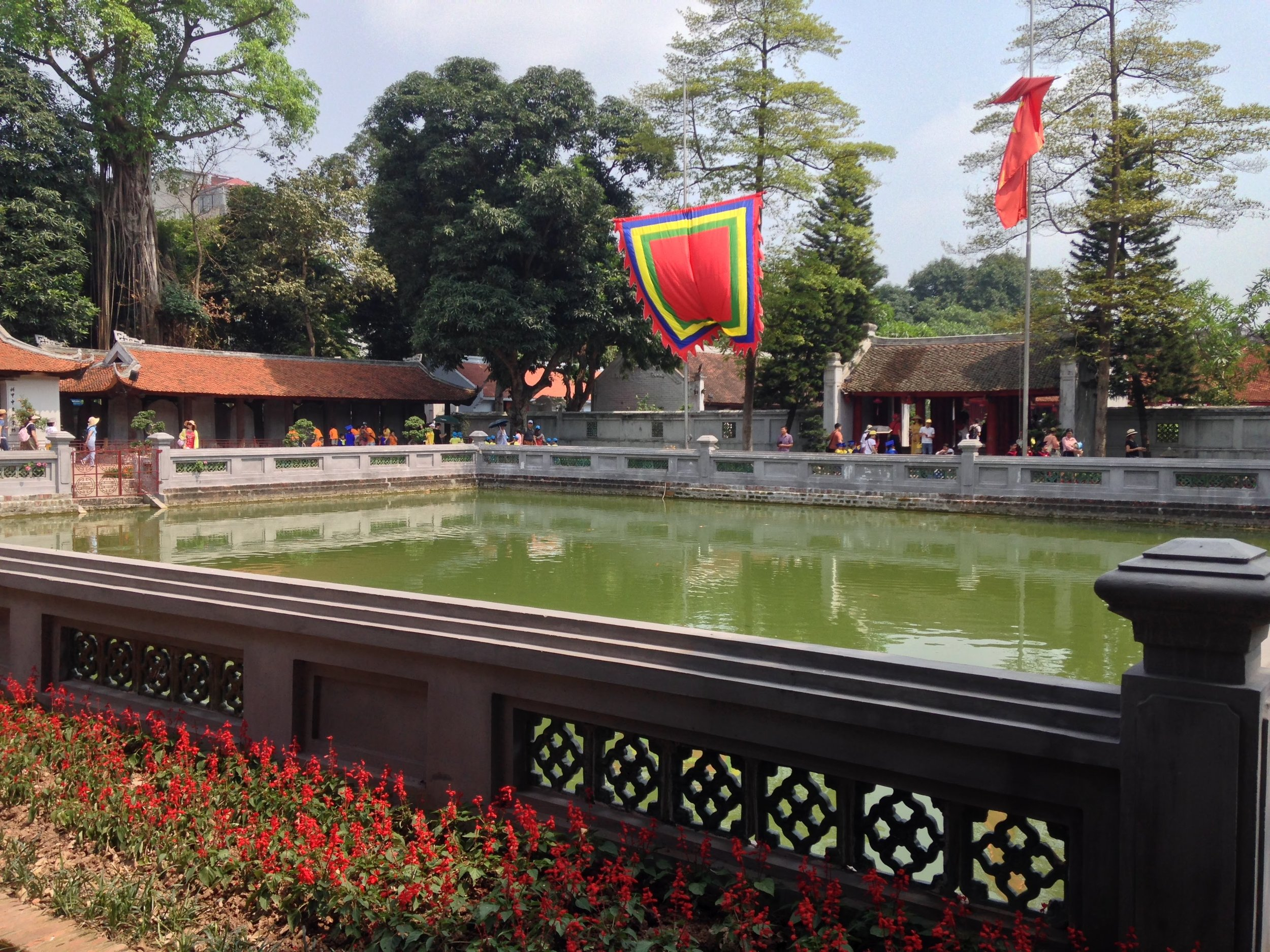 a courtyard at the Temple of Literature