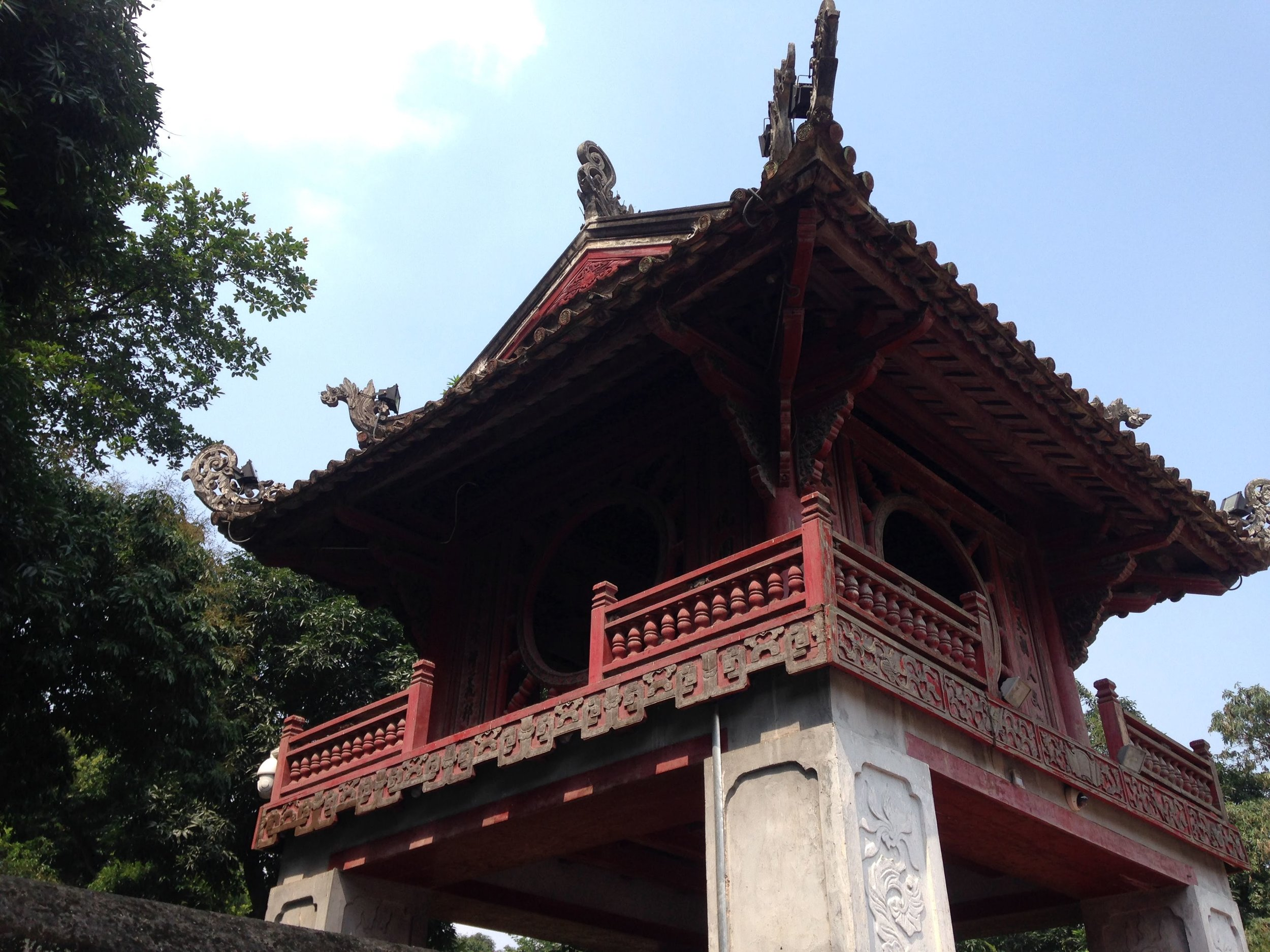 a gate tower at the Temple of Literature