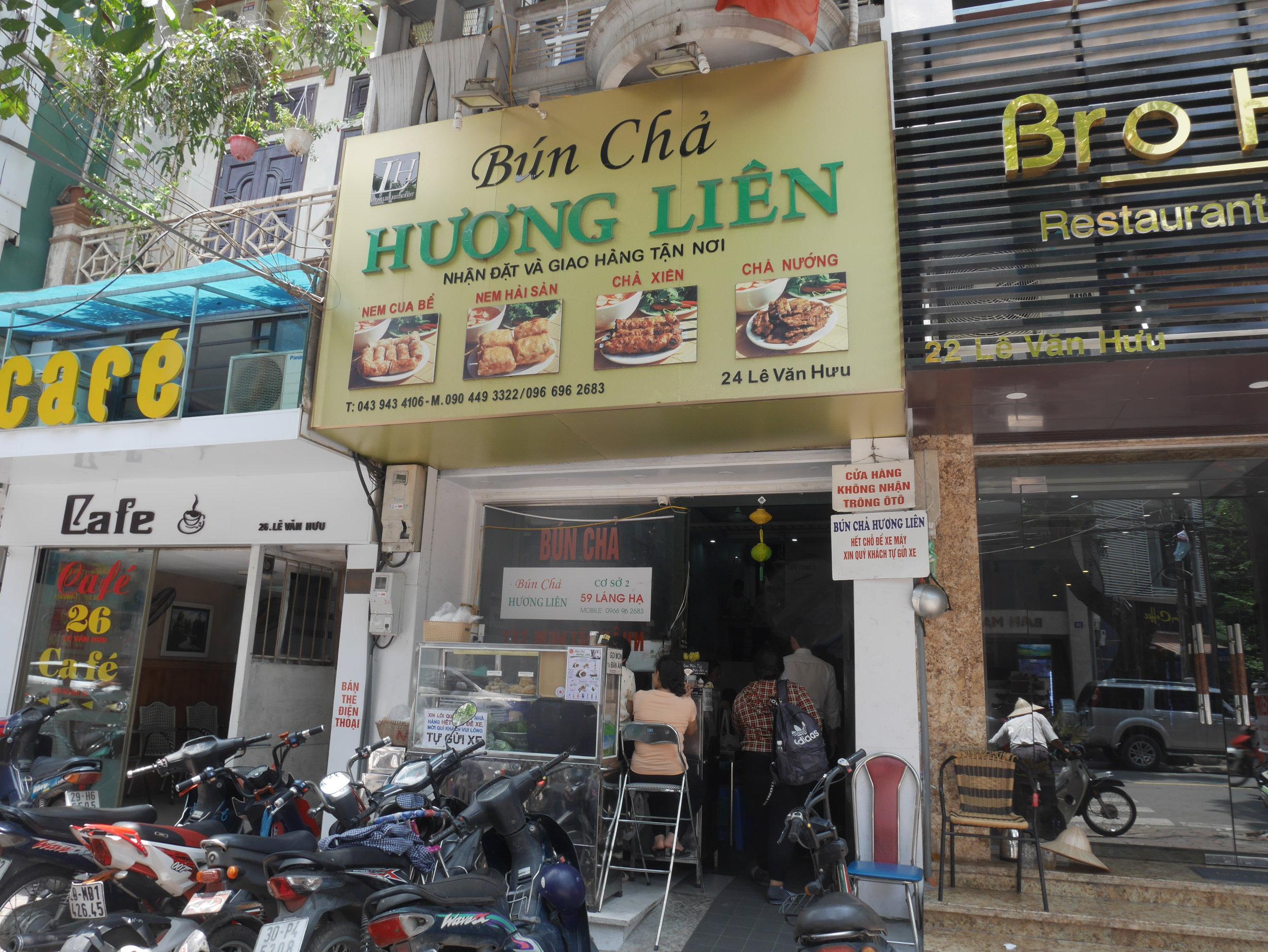 Bún Chả Hương Liên - the shop where Obama ate in Hanoi, Vietnam