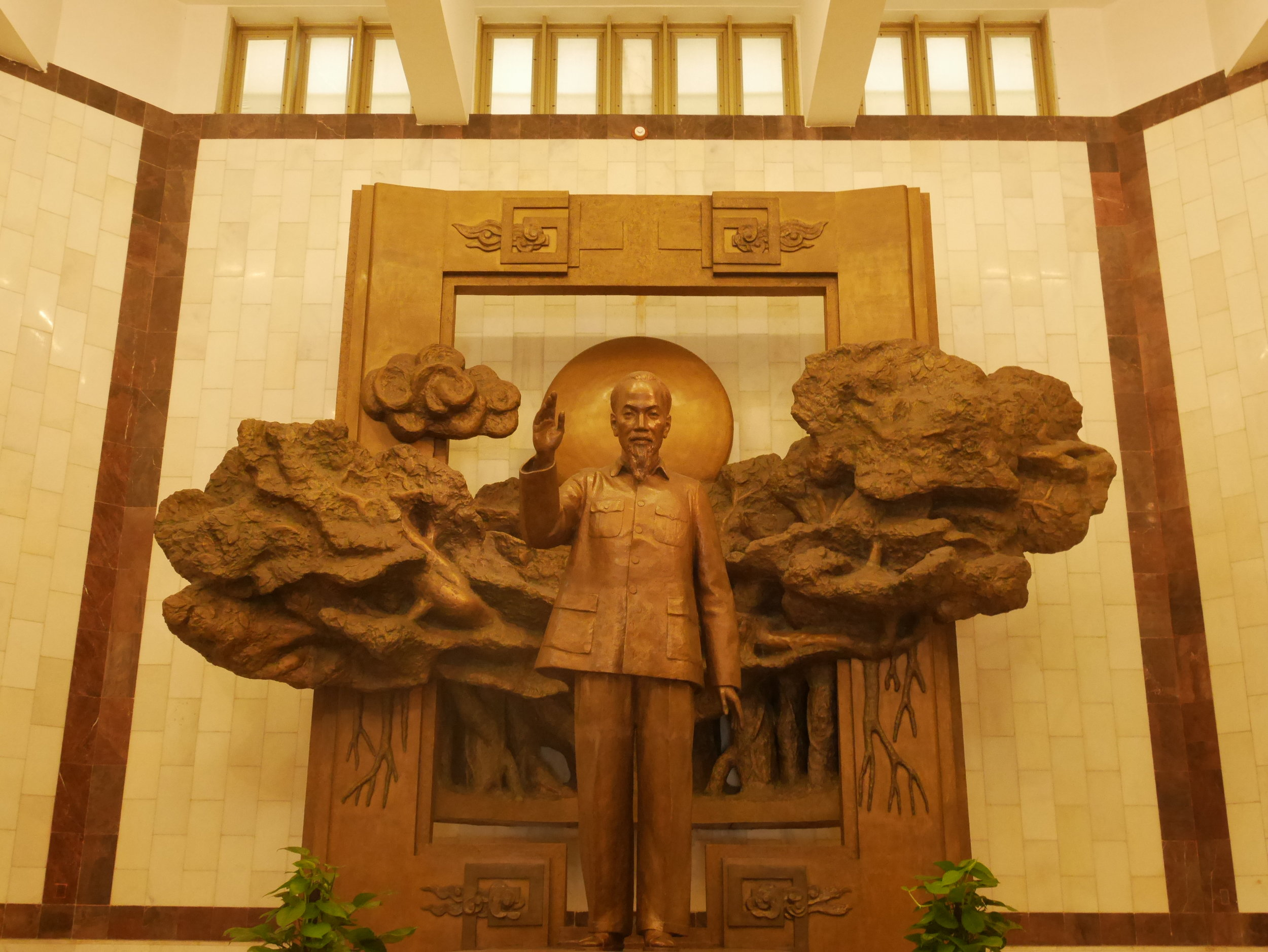 Statue of Ho Chi Minh inside the museum
