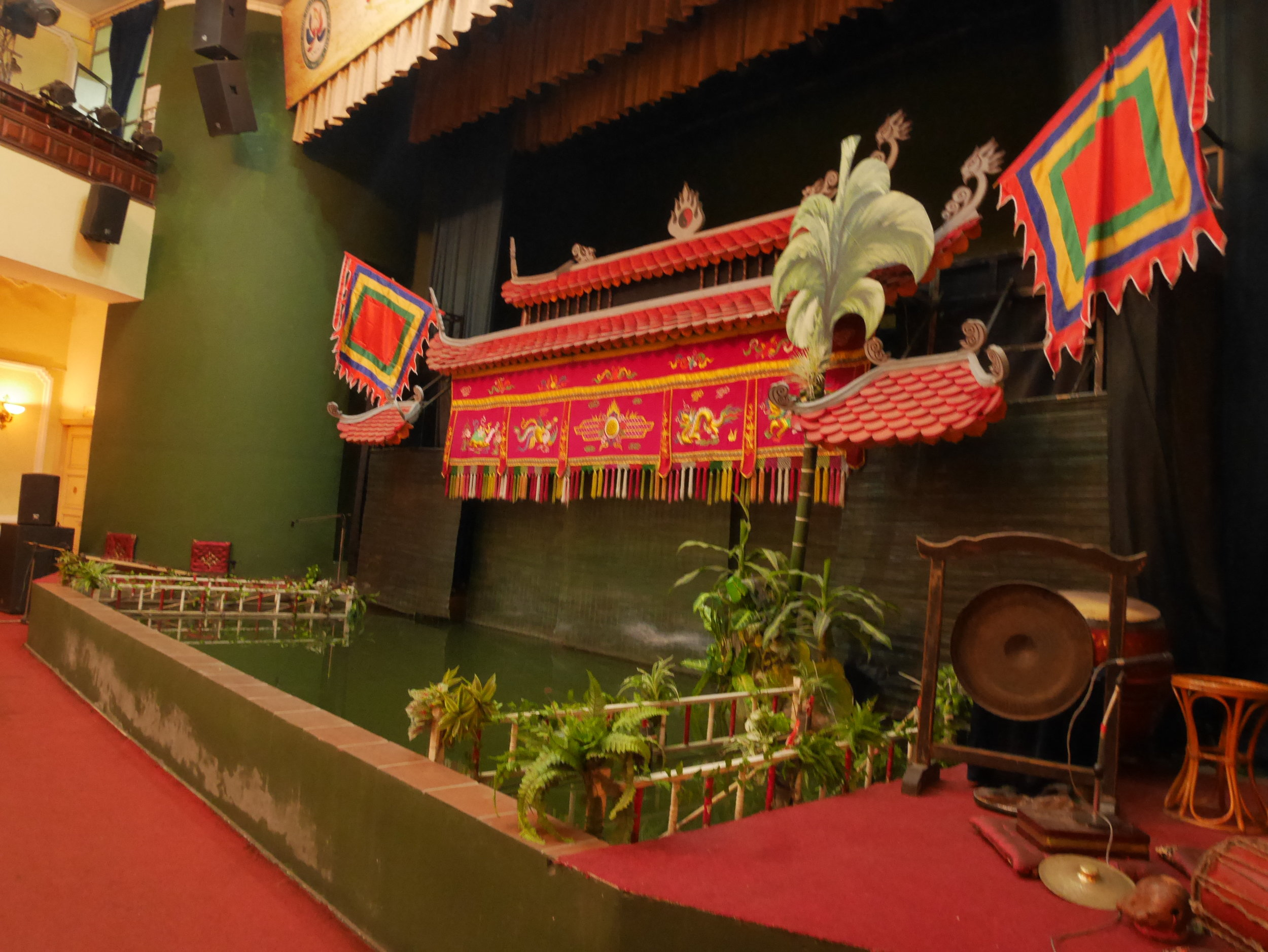 water puppet stage at Lotus Theater