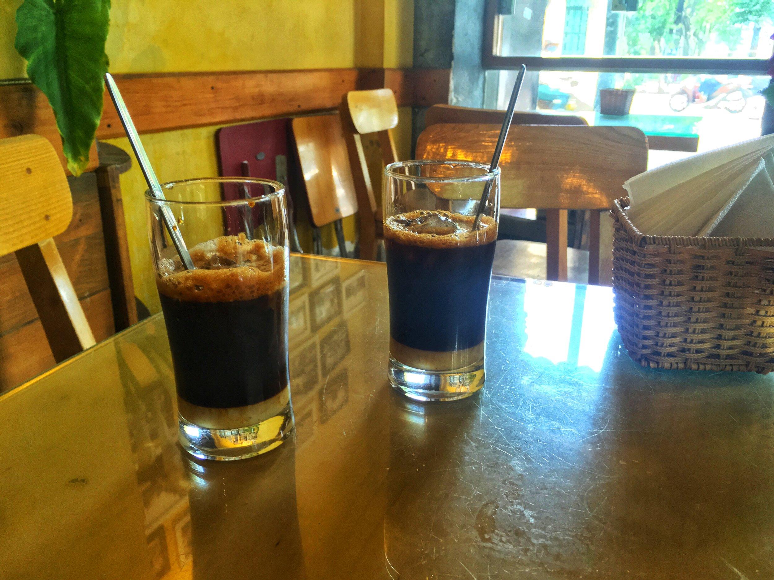 Coffee with condense milk, Kalina Cafe
