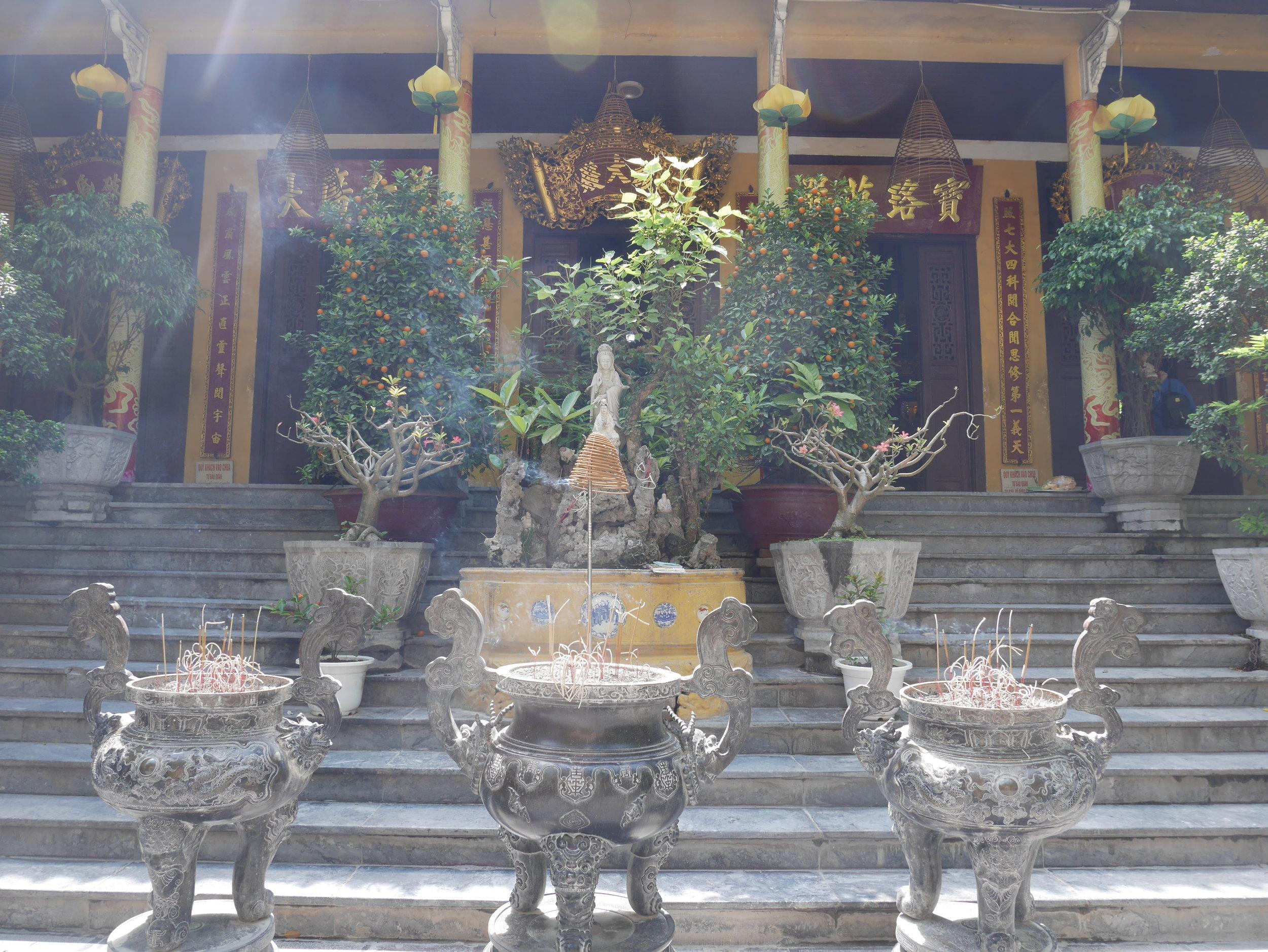 incense burners at Quan Su Temple