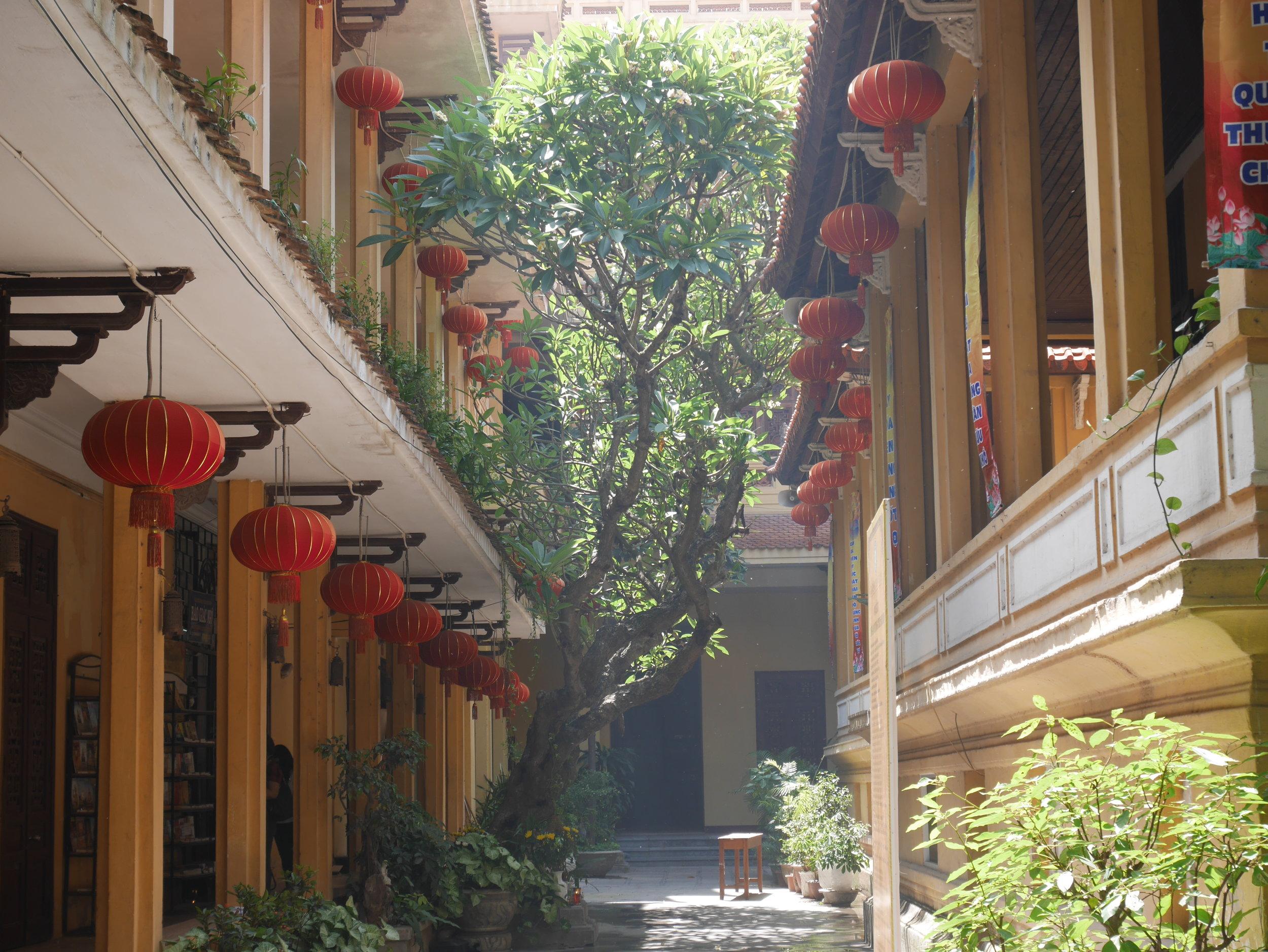 red lanterns at the Ambassador's Pagoda