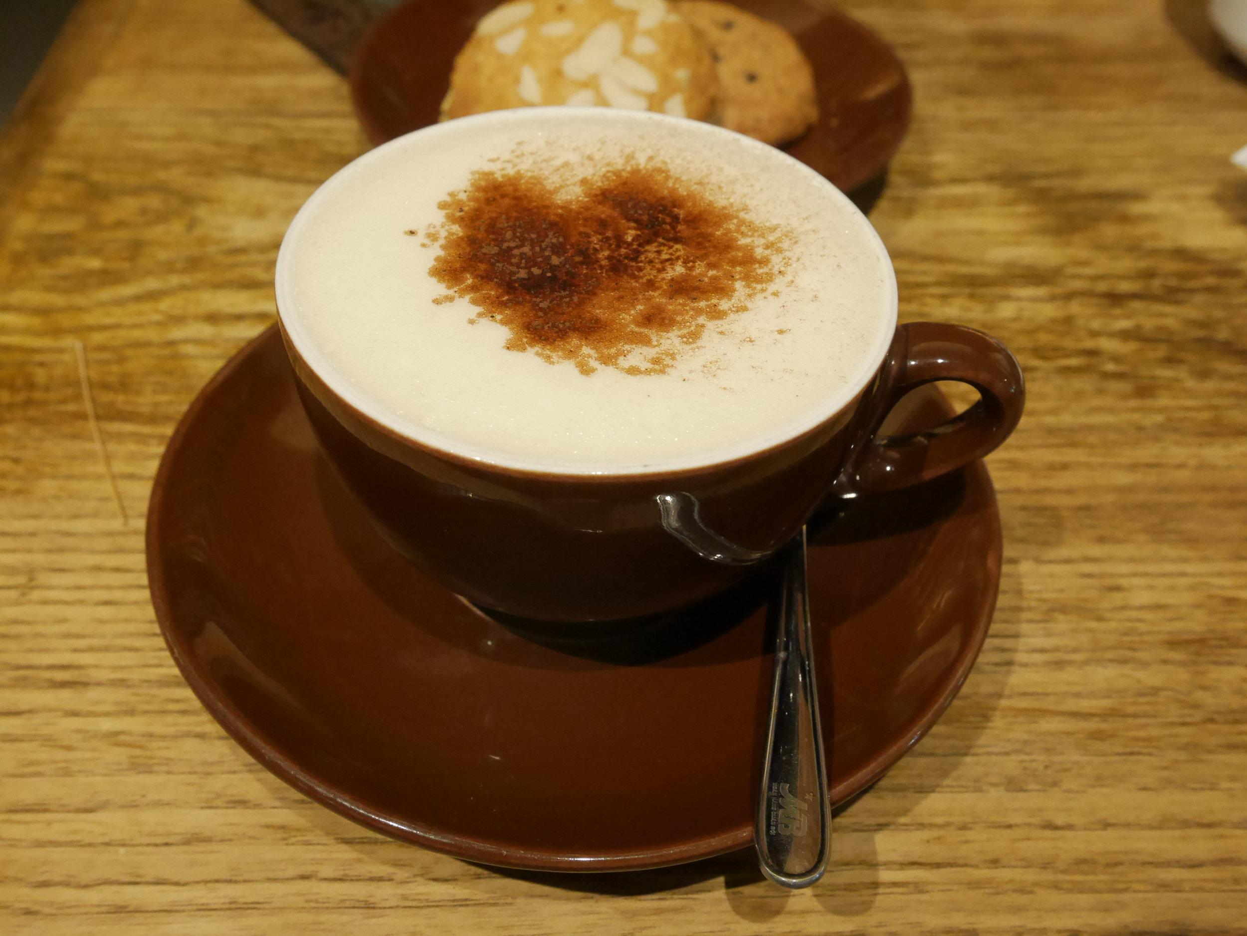Delicious foamy egg coffee of Haka Coffee shop