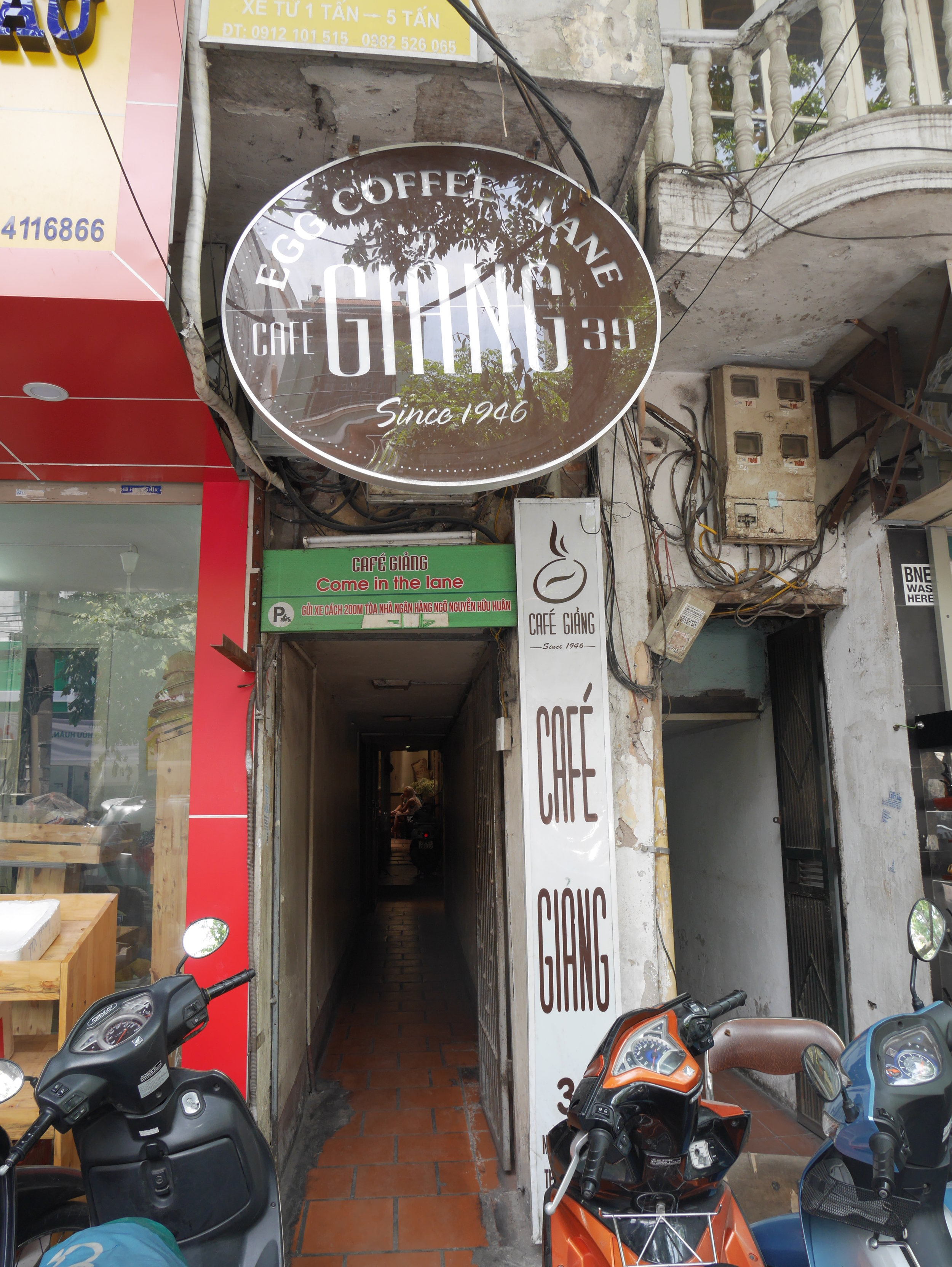 entrance to Cafe Giang