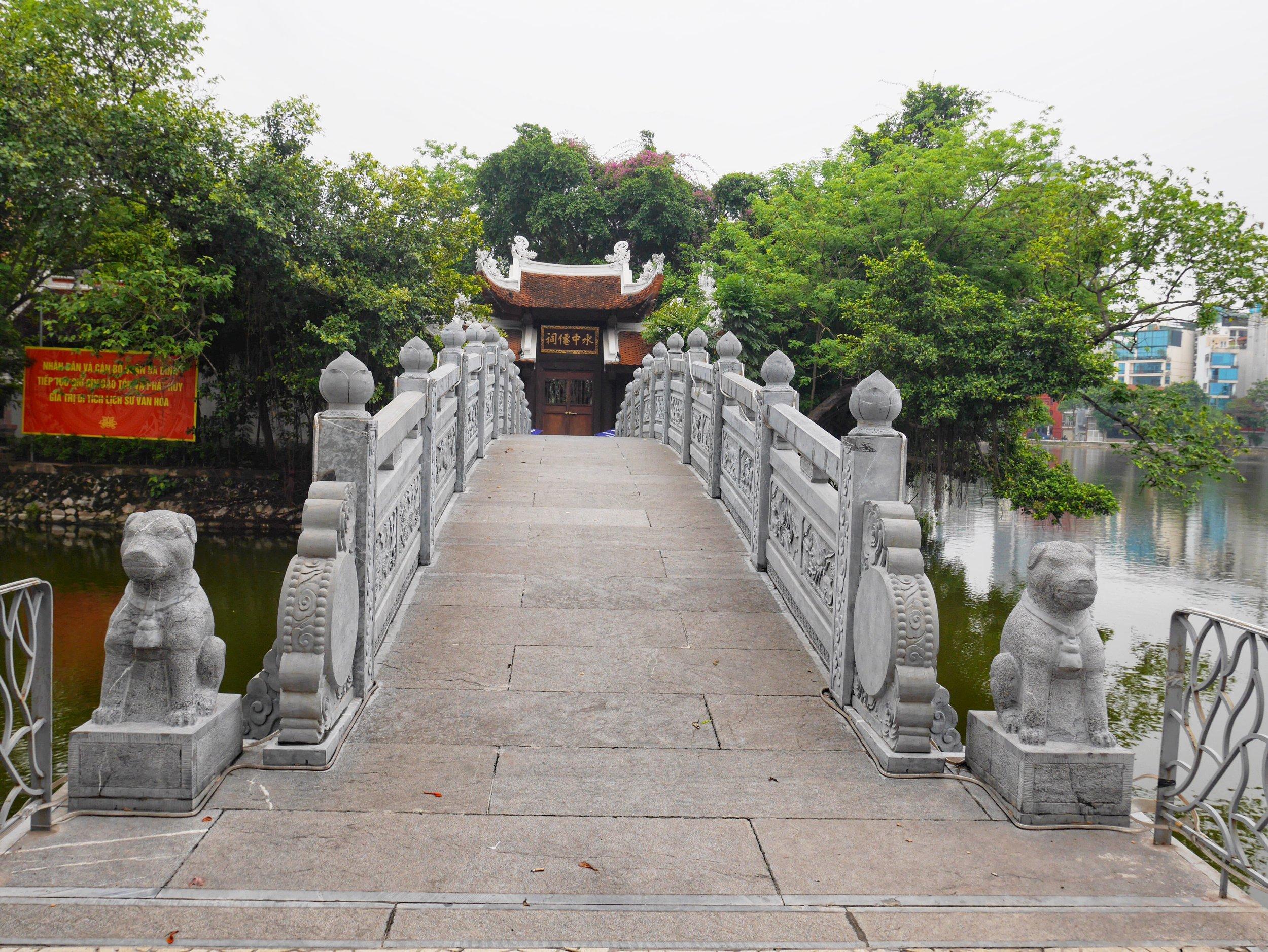 temple on island hanoi