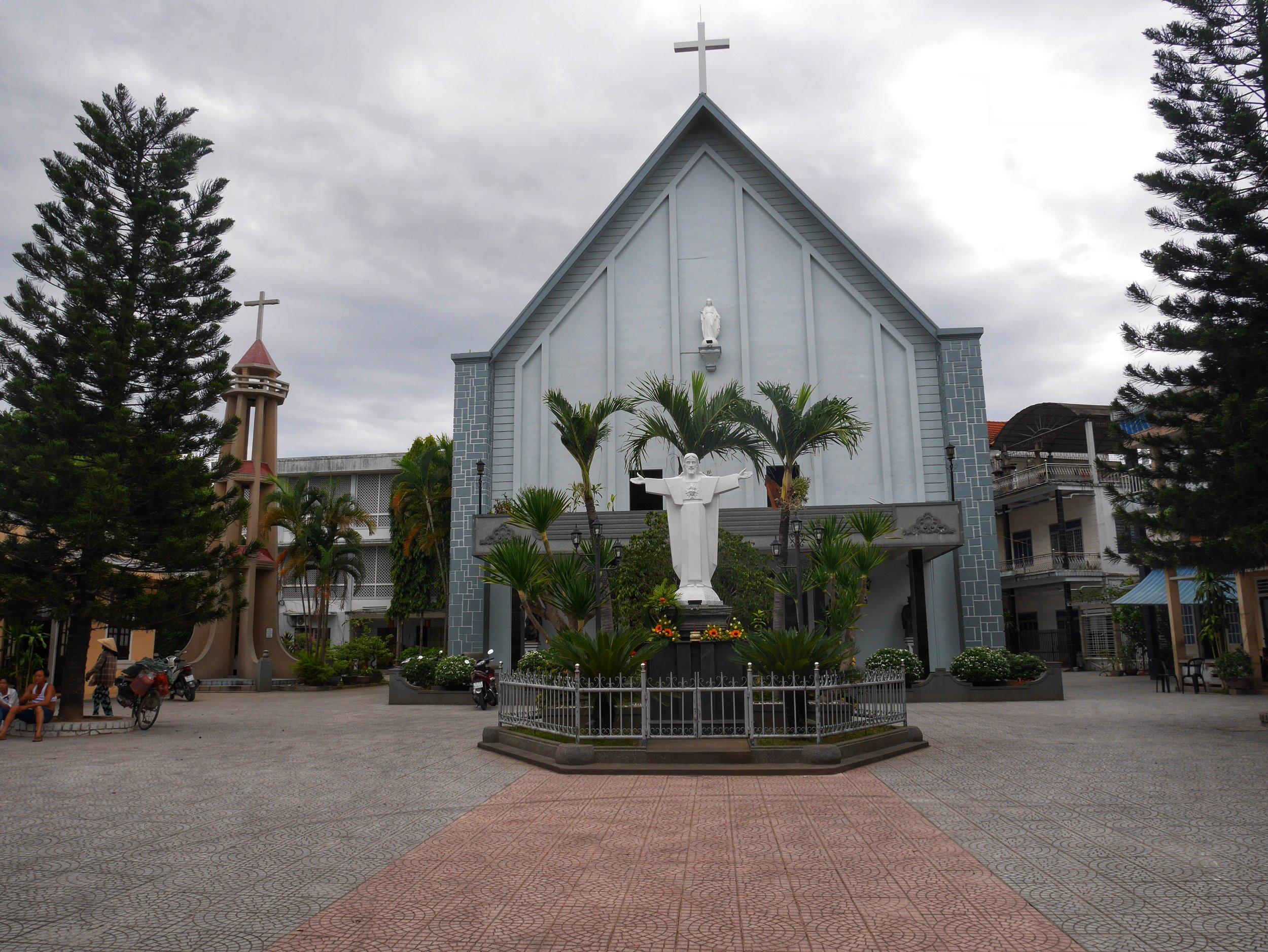 Catholic church in Hue, Vietnam