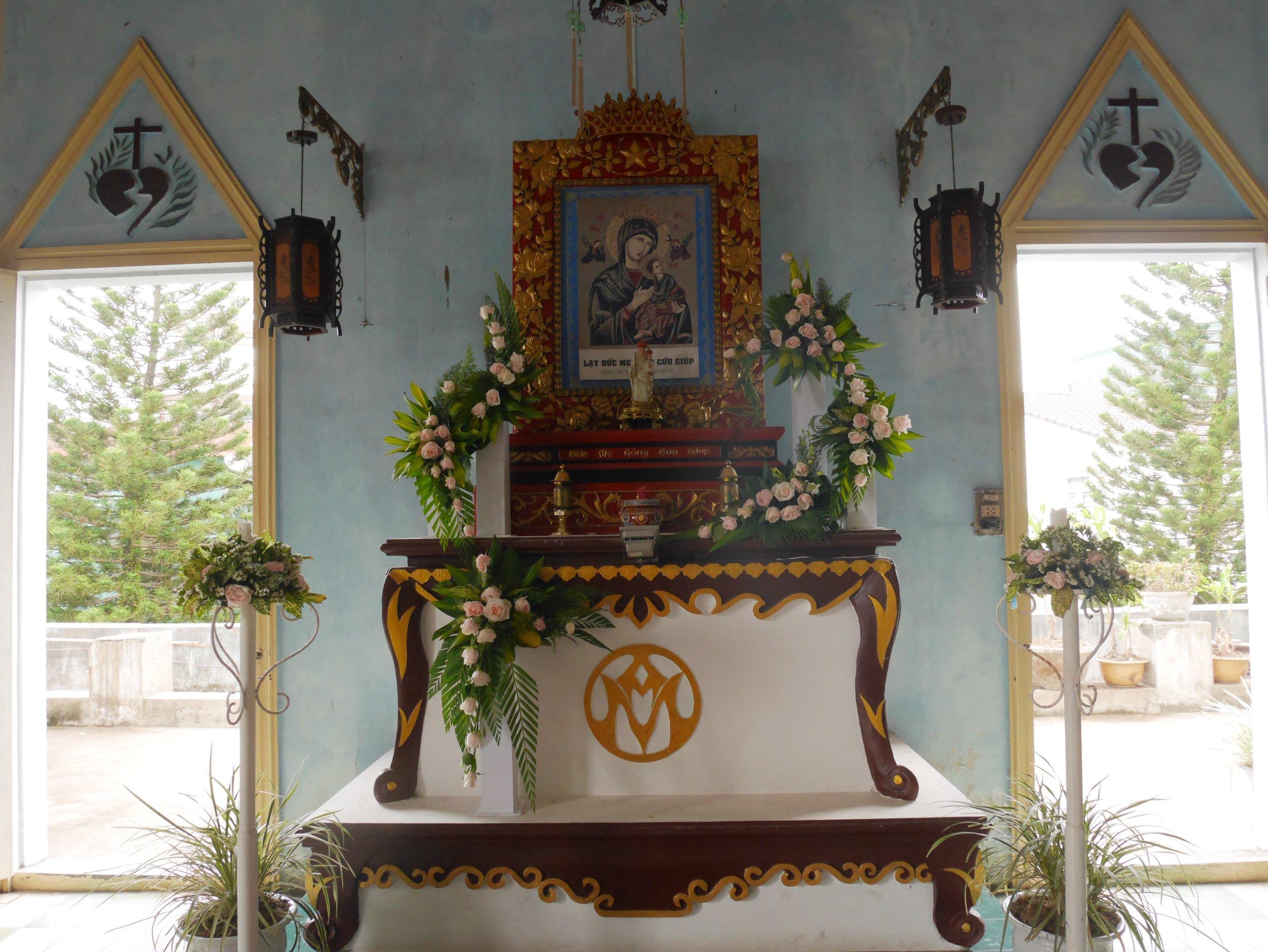 a local church in Hue, Vietnam