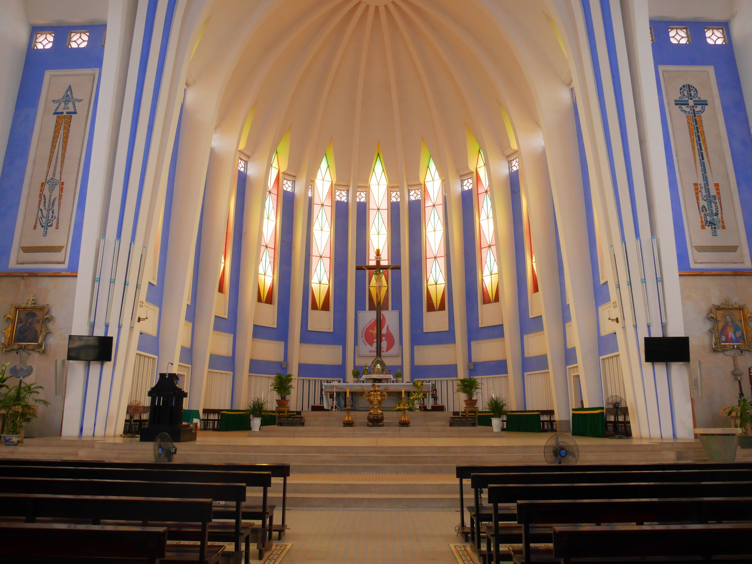 interior of Vietnamese catholic church
