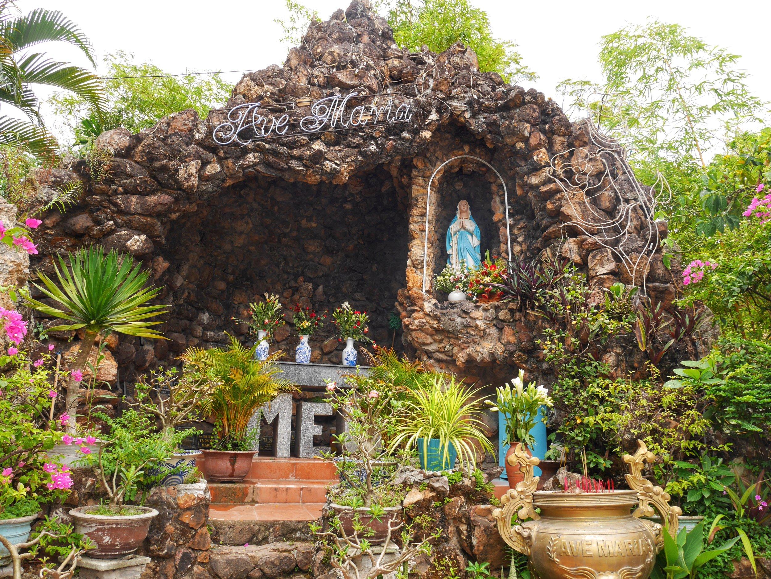 roman catholic grotto at Hue, Vietnam Cathedral