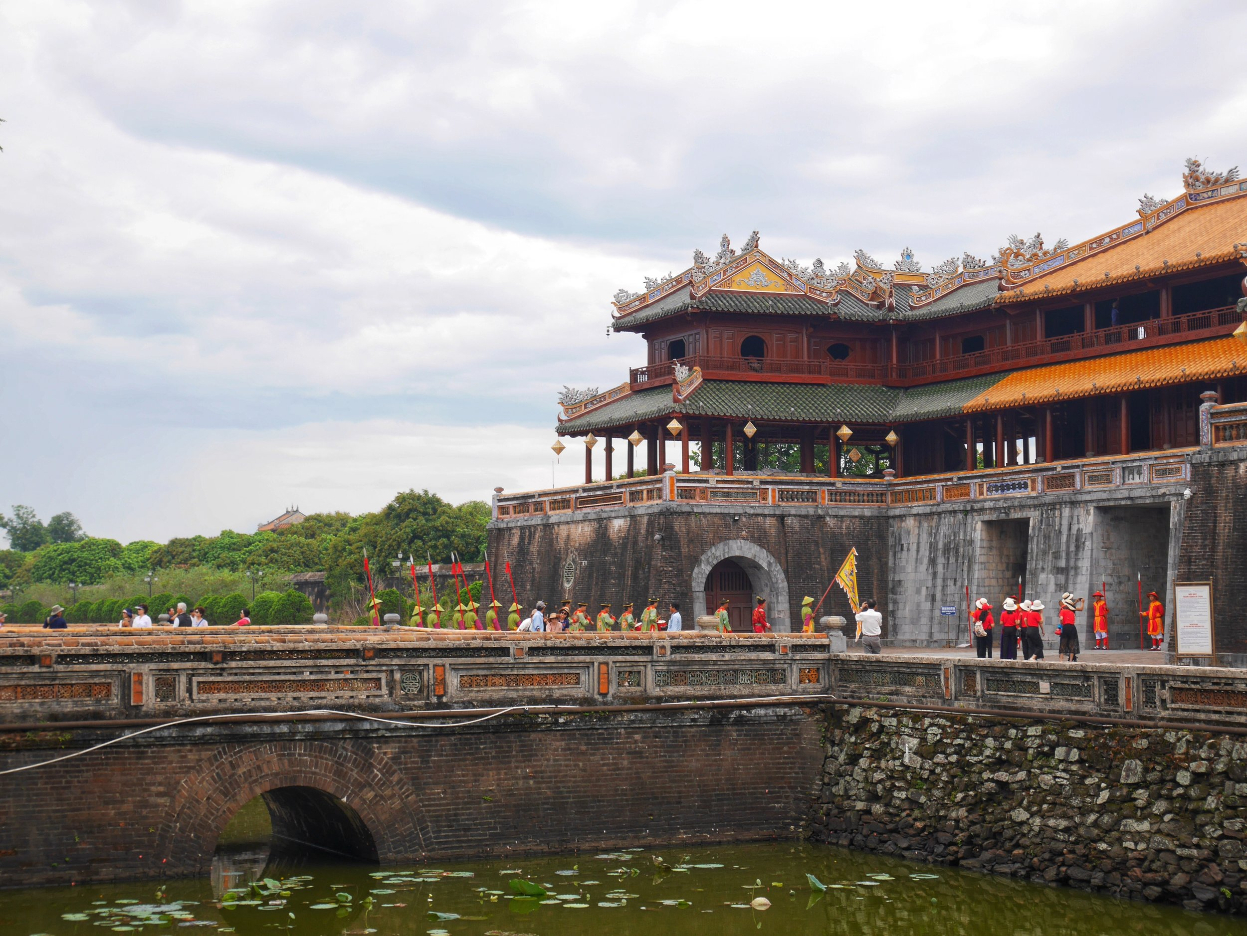 changing of the guard in Hue, Vietnam