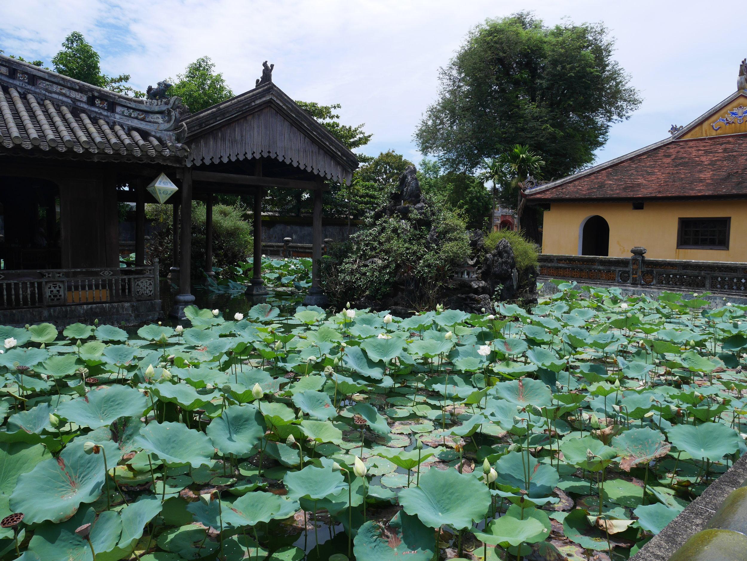 pond at imperial palace hue vietnam