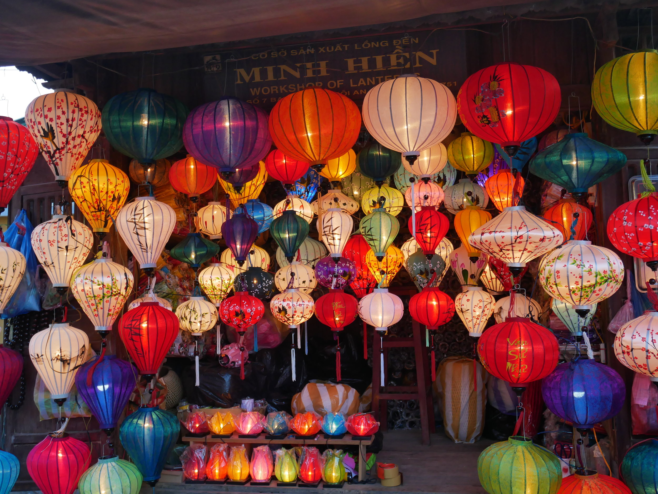 Hoi An Lanterns shop in the night market