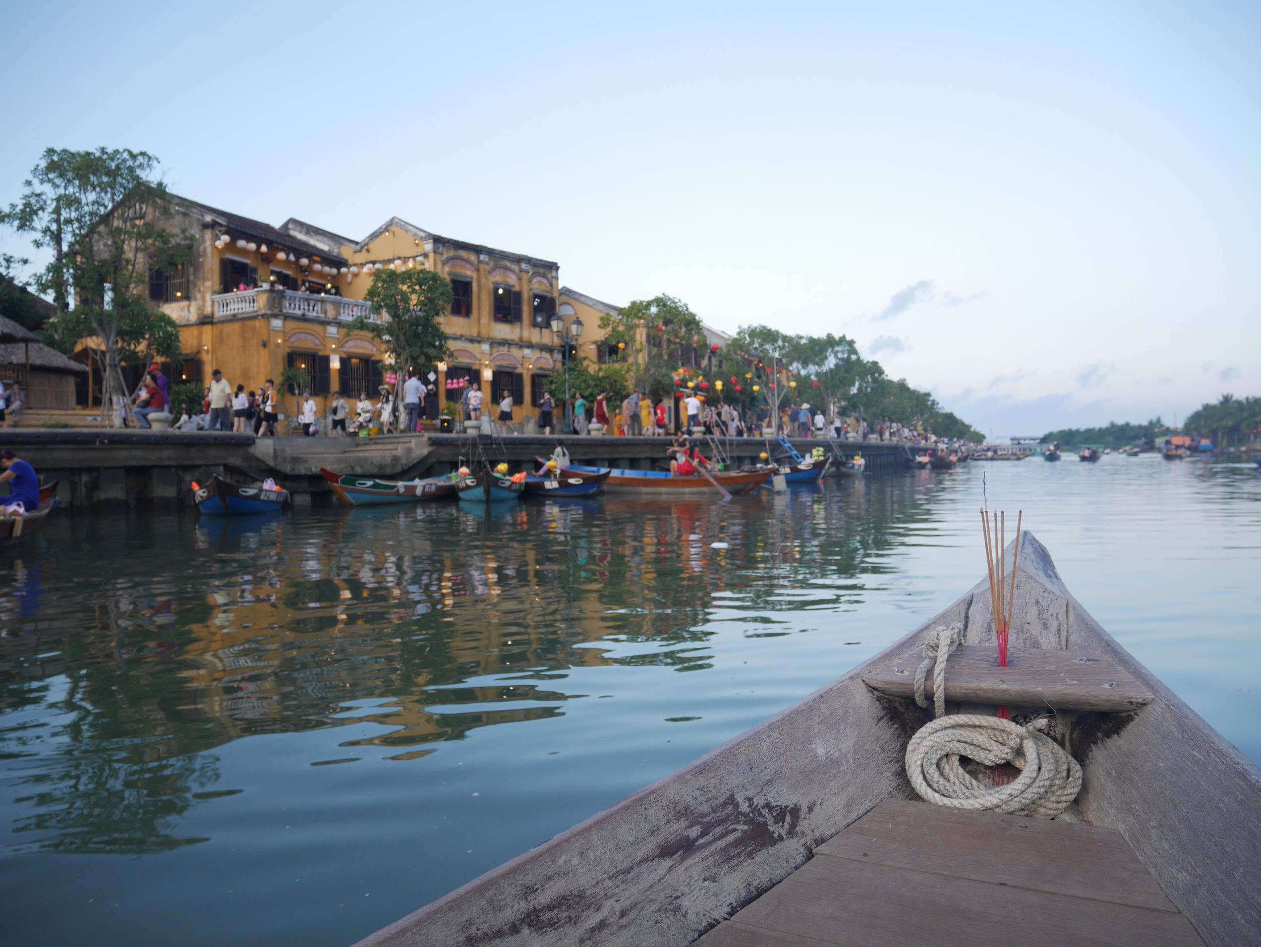 Sailing in the river of Hoi An for Lantern Festival