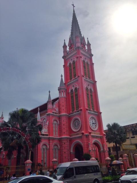 the famous Saigon pink church