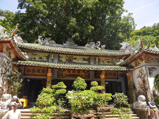 a Buddhist temple in the Marble Mountains
