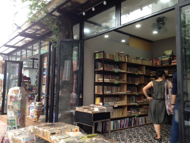 a shop on Book Street in Saigon