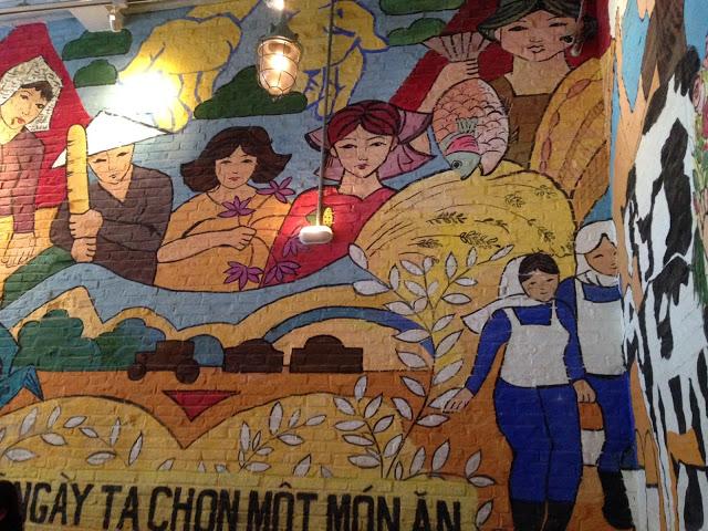 murals at the Propaganda Bistro