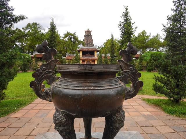 incense burner at the Celestial Lady Pagoda, Hue