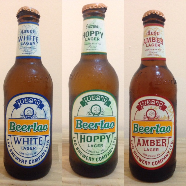 three brand-new flavors of Beer Lao