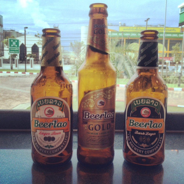 three original Beer Lao varieties