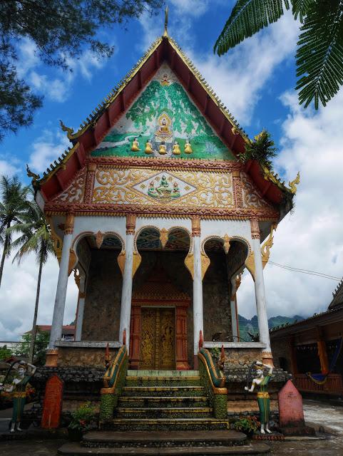 a beautiful temple in Vang Vieng, Laos