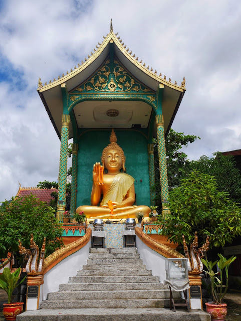 big seated Buddha statue in Vang Vieng, Laos