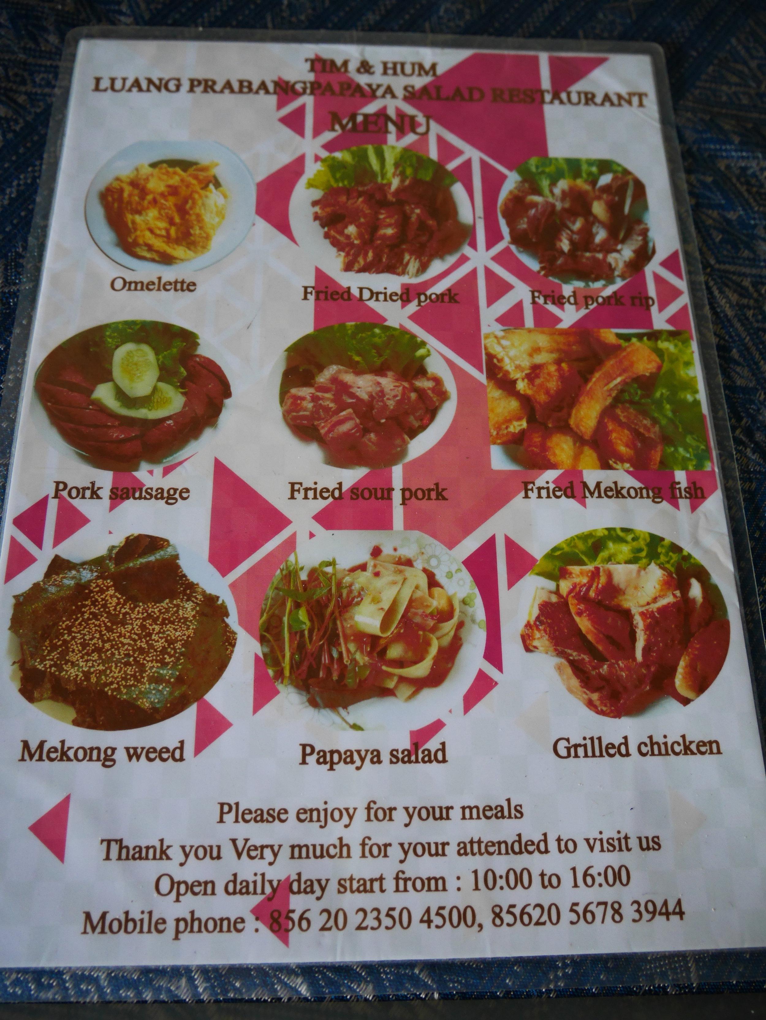 Papaya salad restaurant, Luang Prabang, Laos
