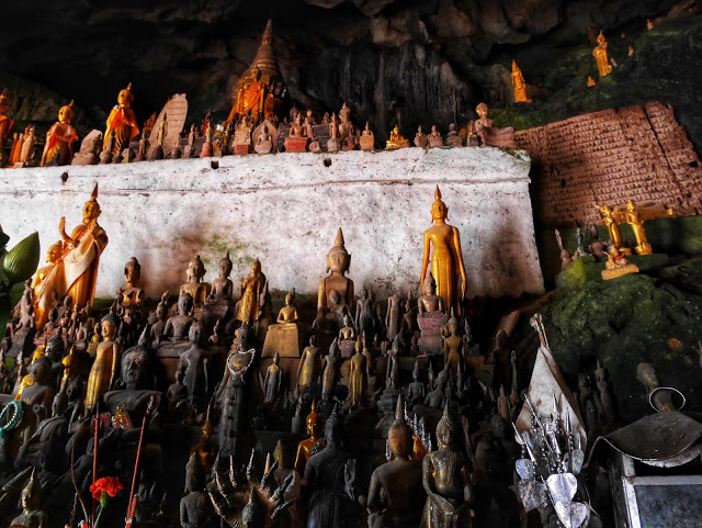Buddha statues at the Pak Ou Caves, Luang Prabang, Laos