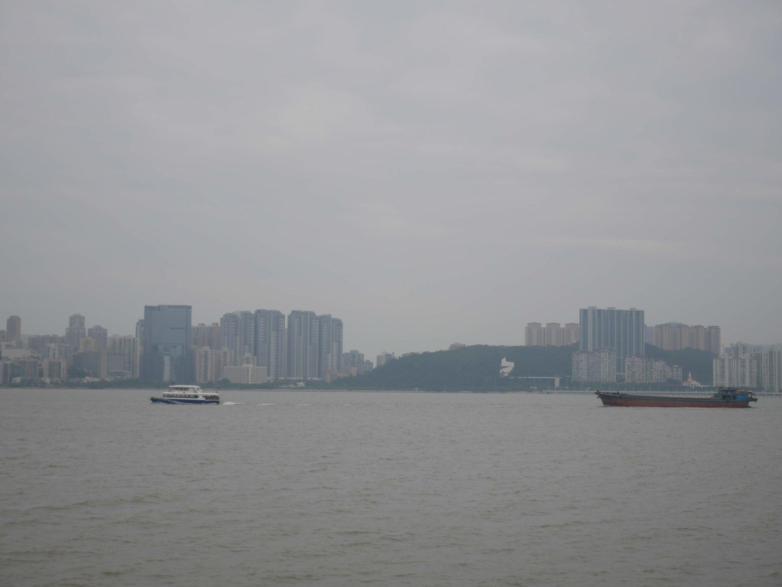looking across the harbor in Macau