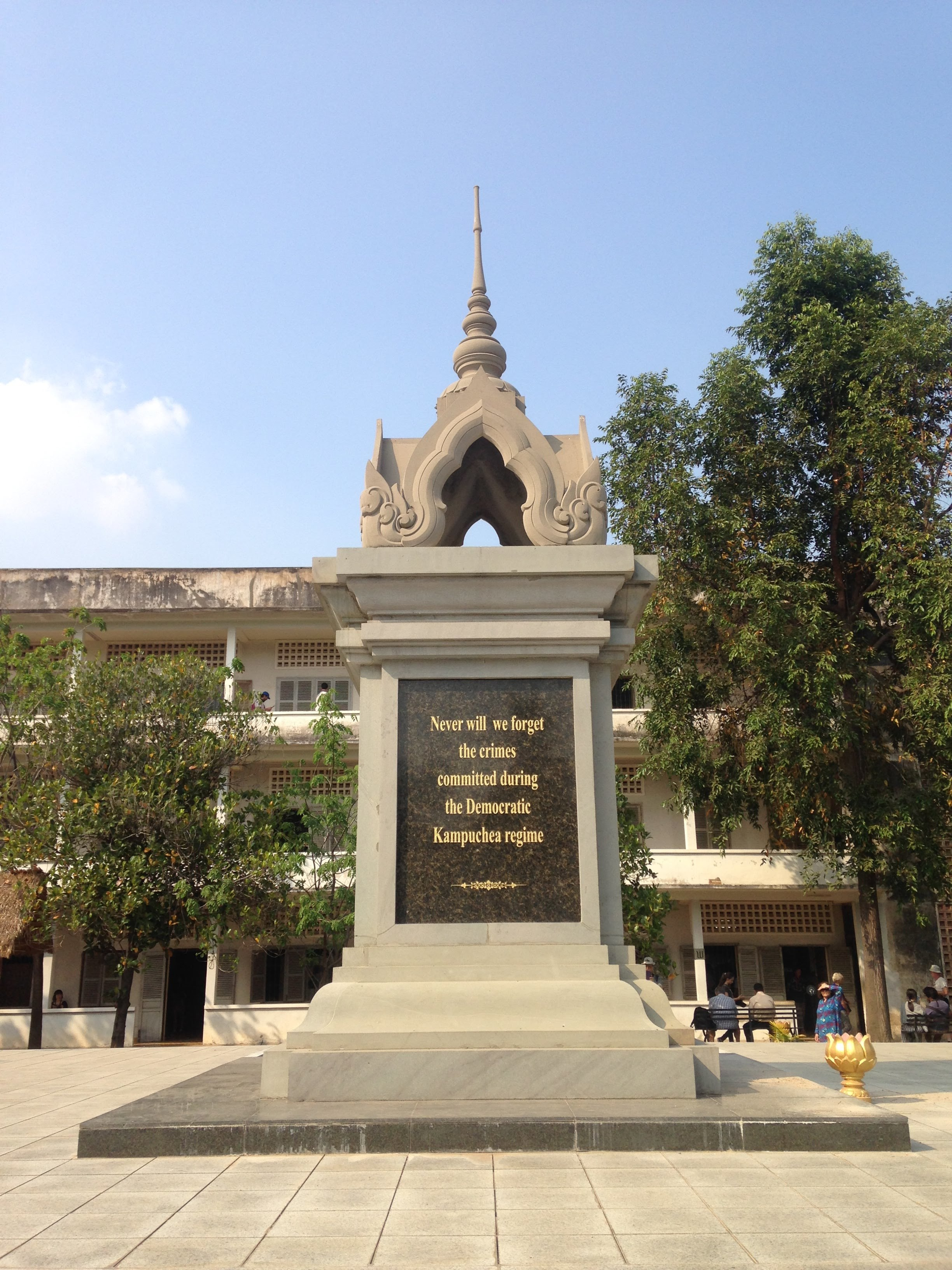 a memorial to the martyrs of the Khmer Rouge regime at Tuol Sleng Genocide Museum in Phnom Penh