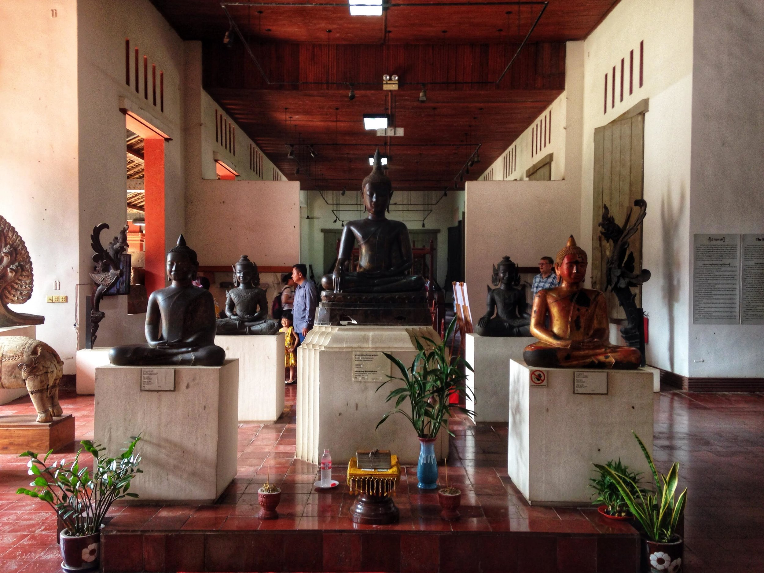A Buddhist shrine inside one of the rooms at the National Museum.