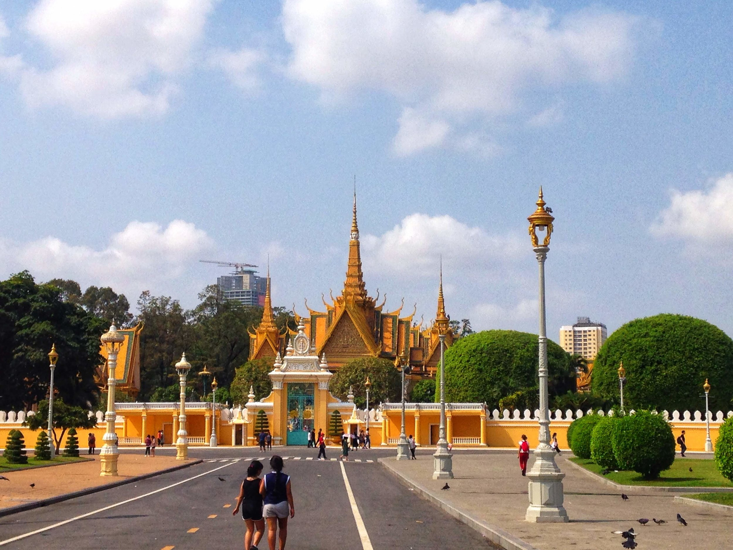 The gates of the Royal Palace in Phnom Penh, Cambodia.
