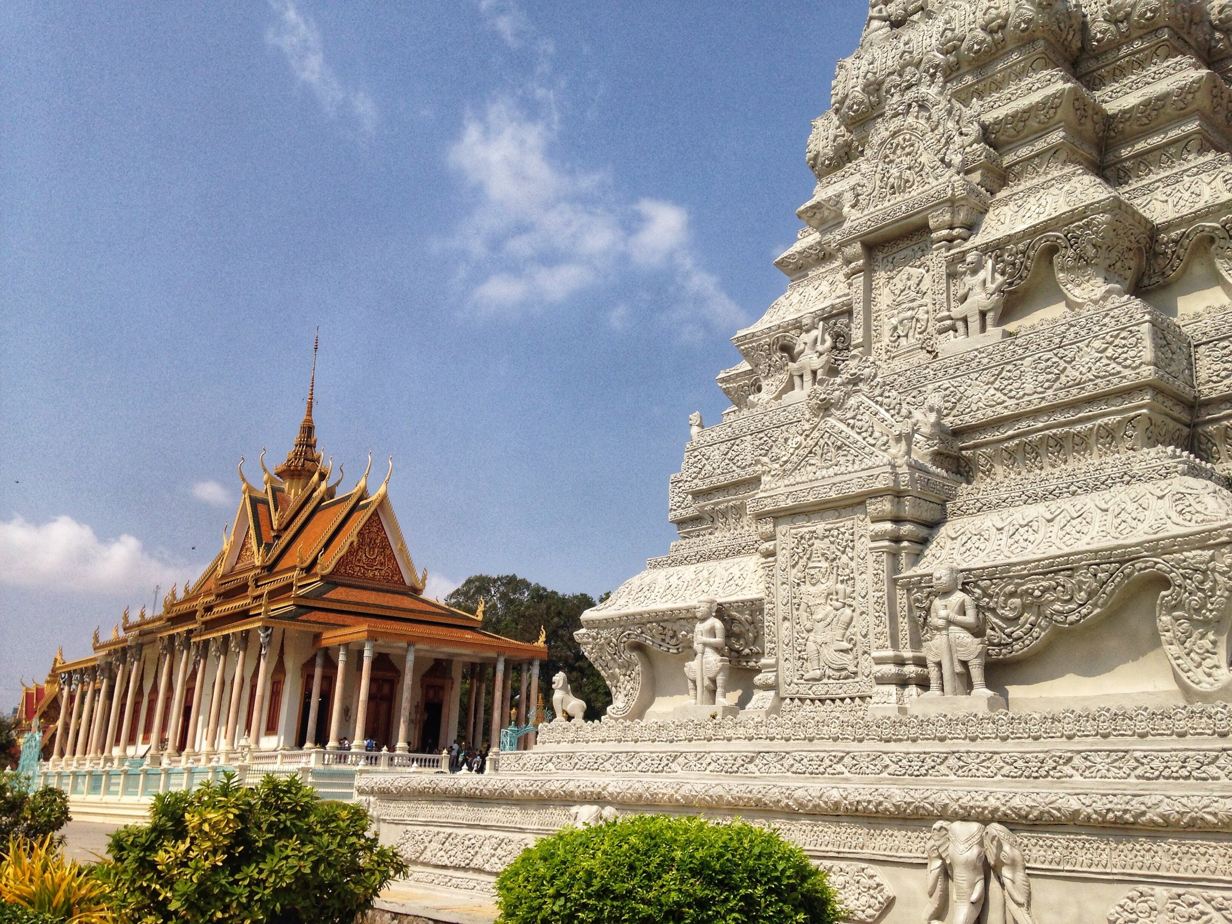 The Silver Pagoda, also called the Temple of the Emerald-Crystal Buddha