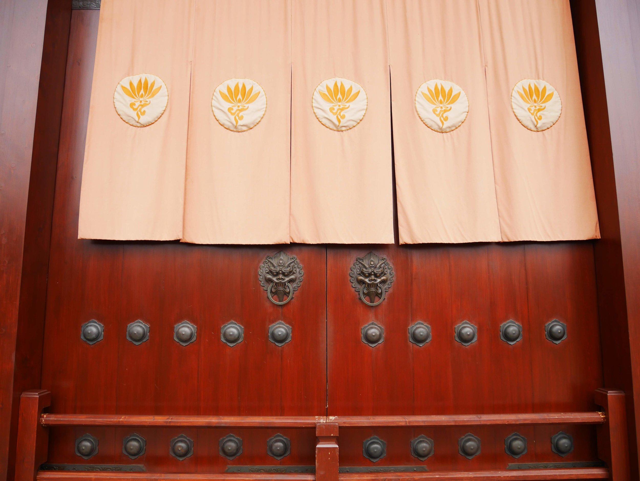 The great doors at the Chi Lin Nunnery in Hong Kong.