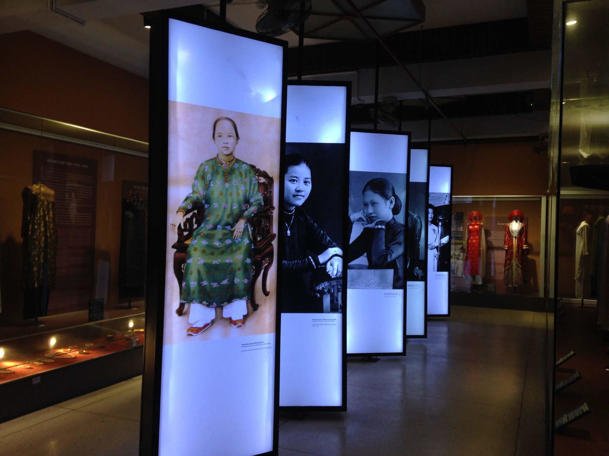 Exhibits inside the Southern Vietnam Women's Museum in Ho Chi Minh City