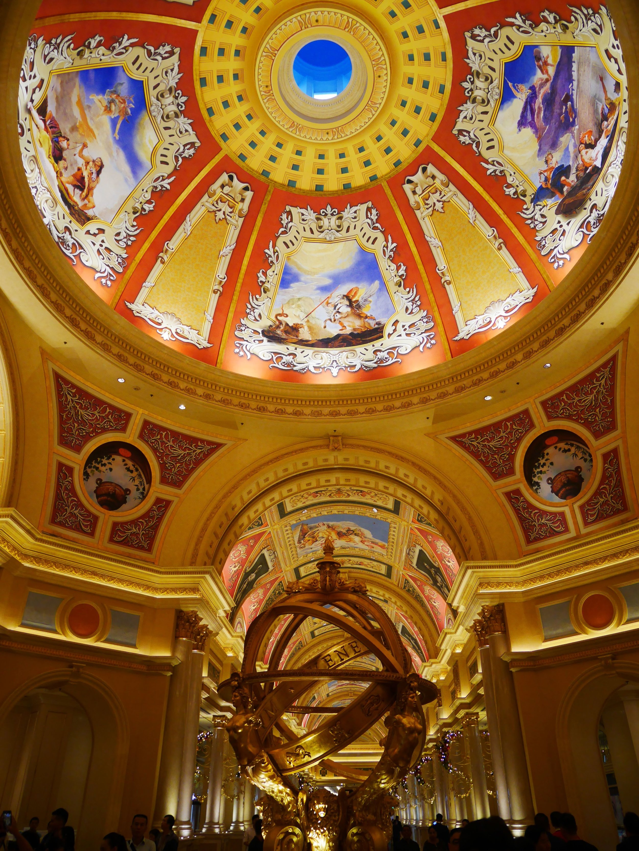 the interior and lobby at the Venetian Macau