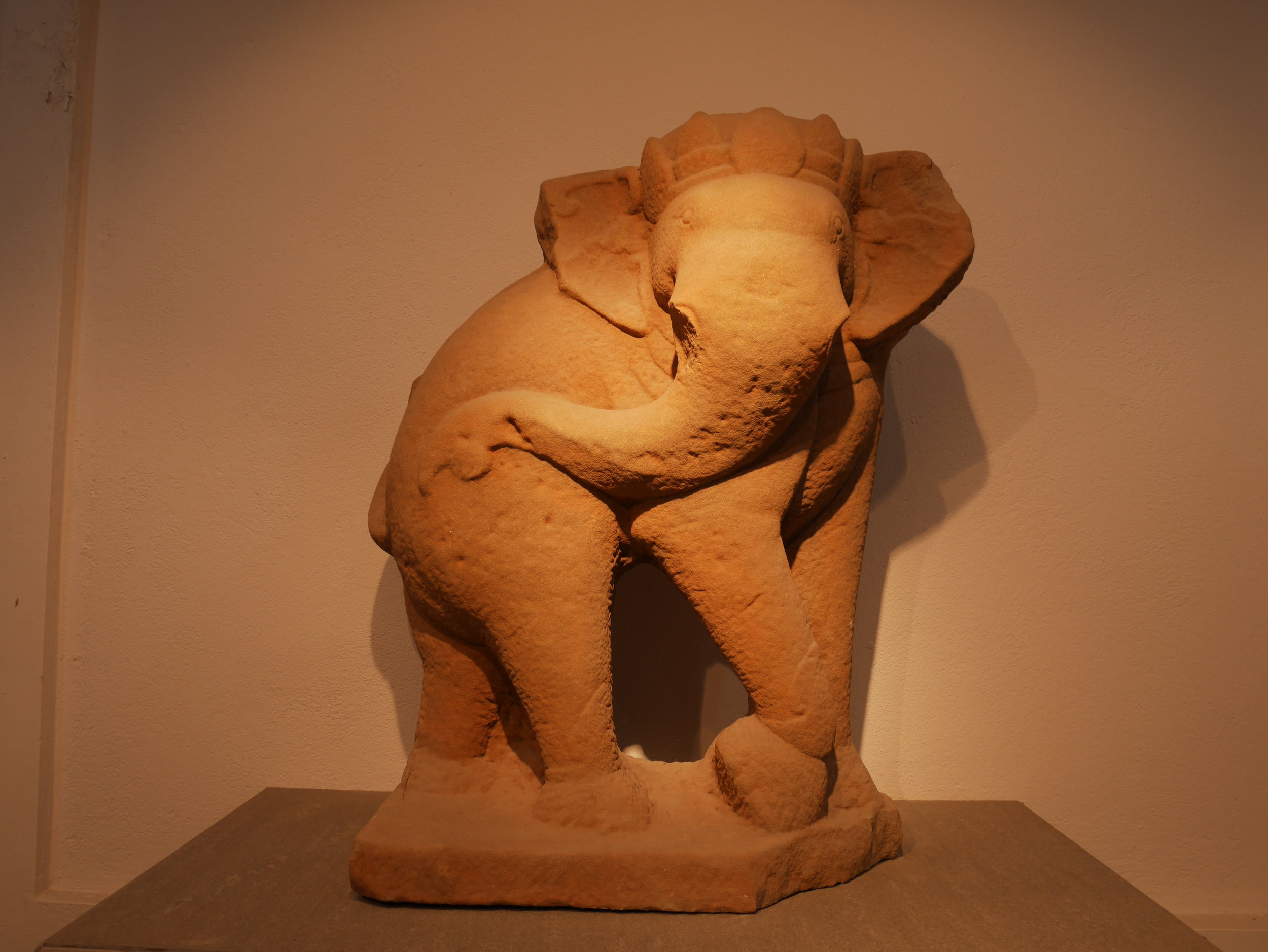 Cham-style carved elephant at the Da Nang Museum of Cham Culture