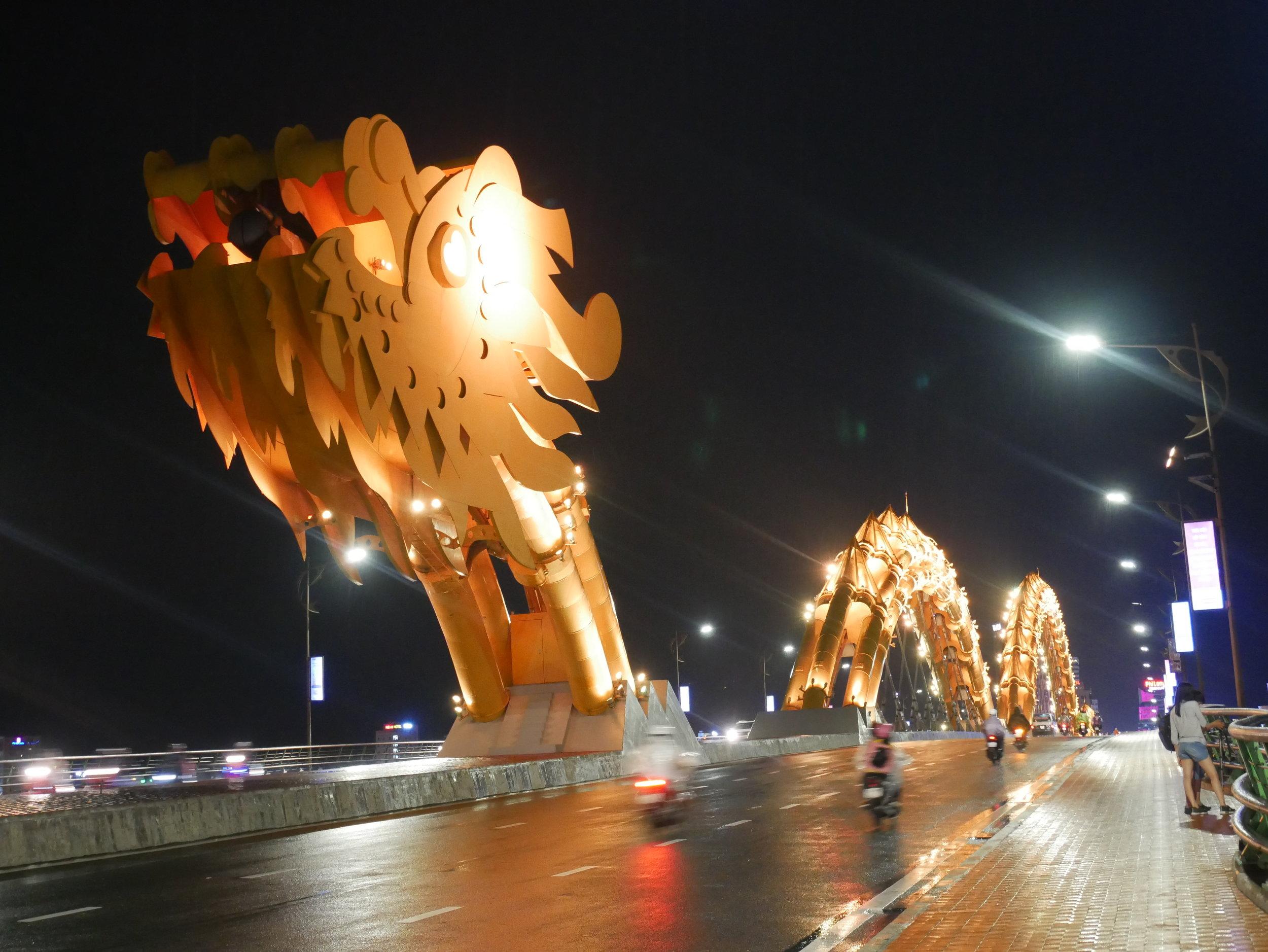 Dragon Bridge at night - every night this bridge shoots fire!