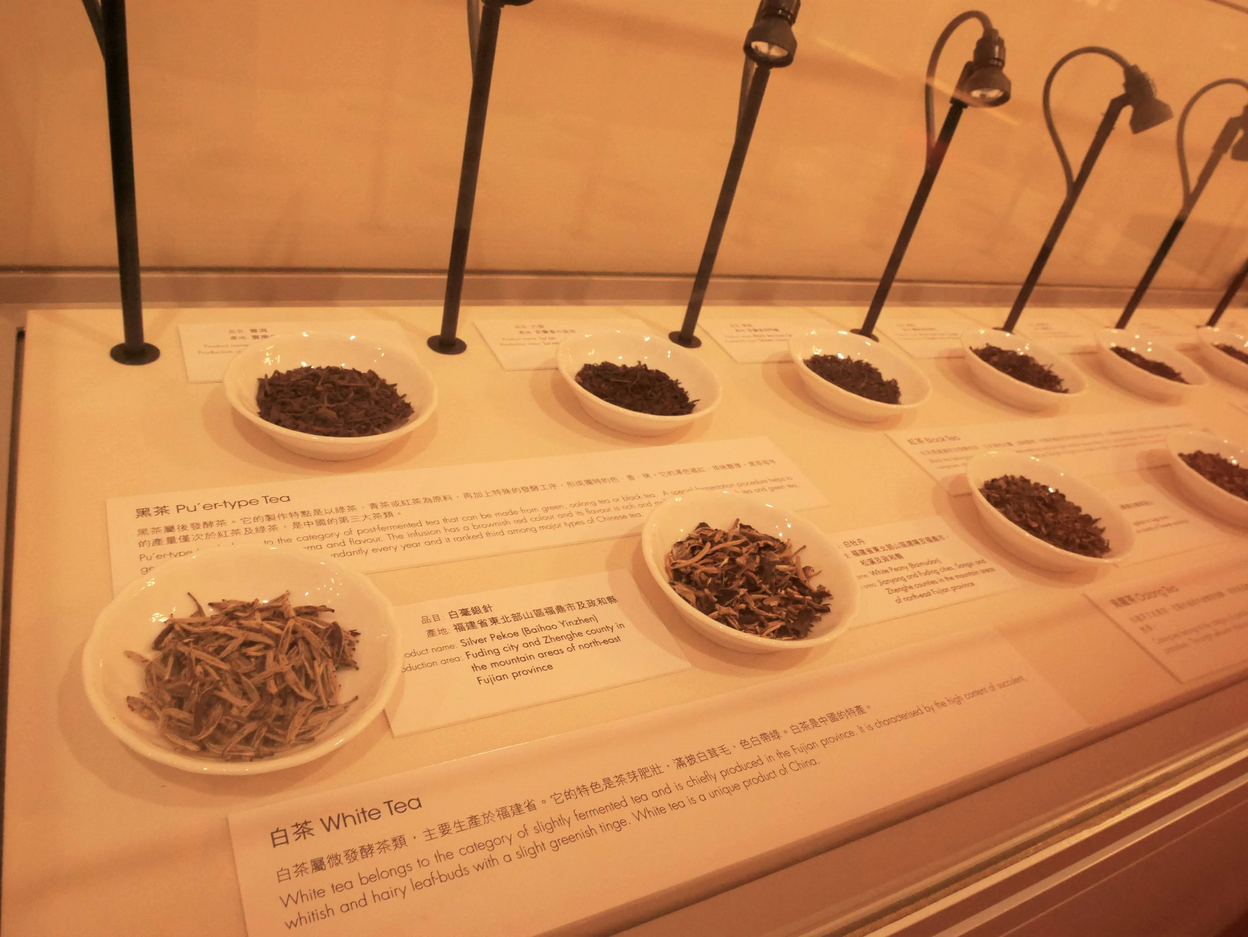 various types of Chinese tea