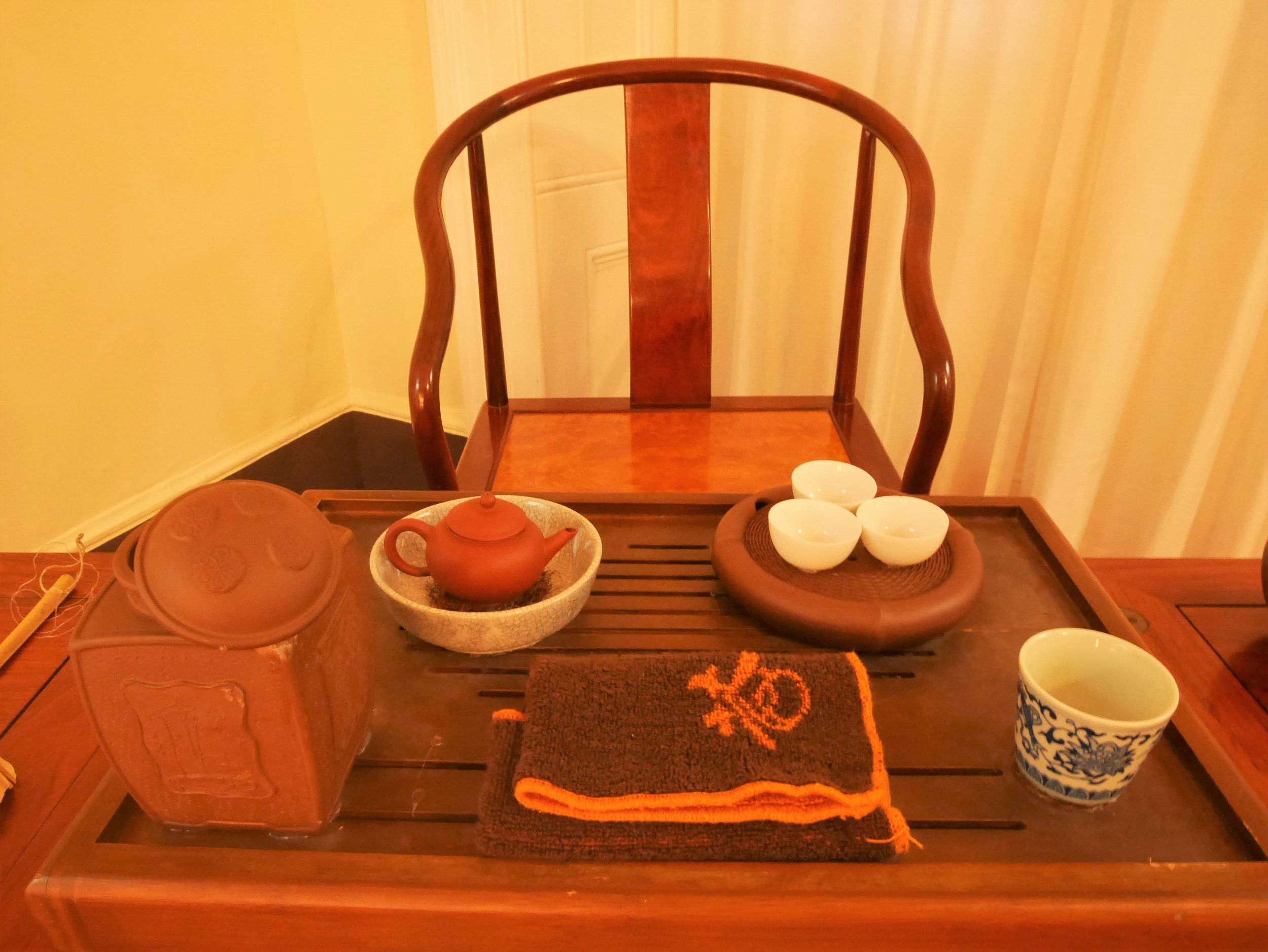 a traditional Chinese tea ceremony