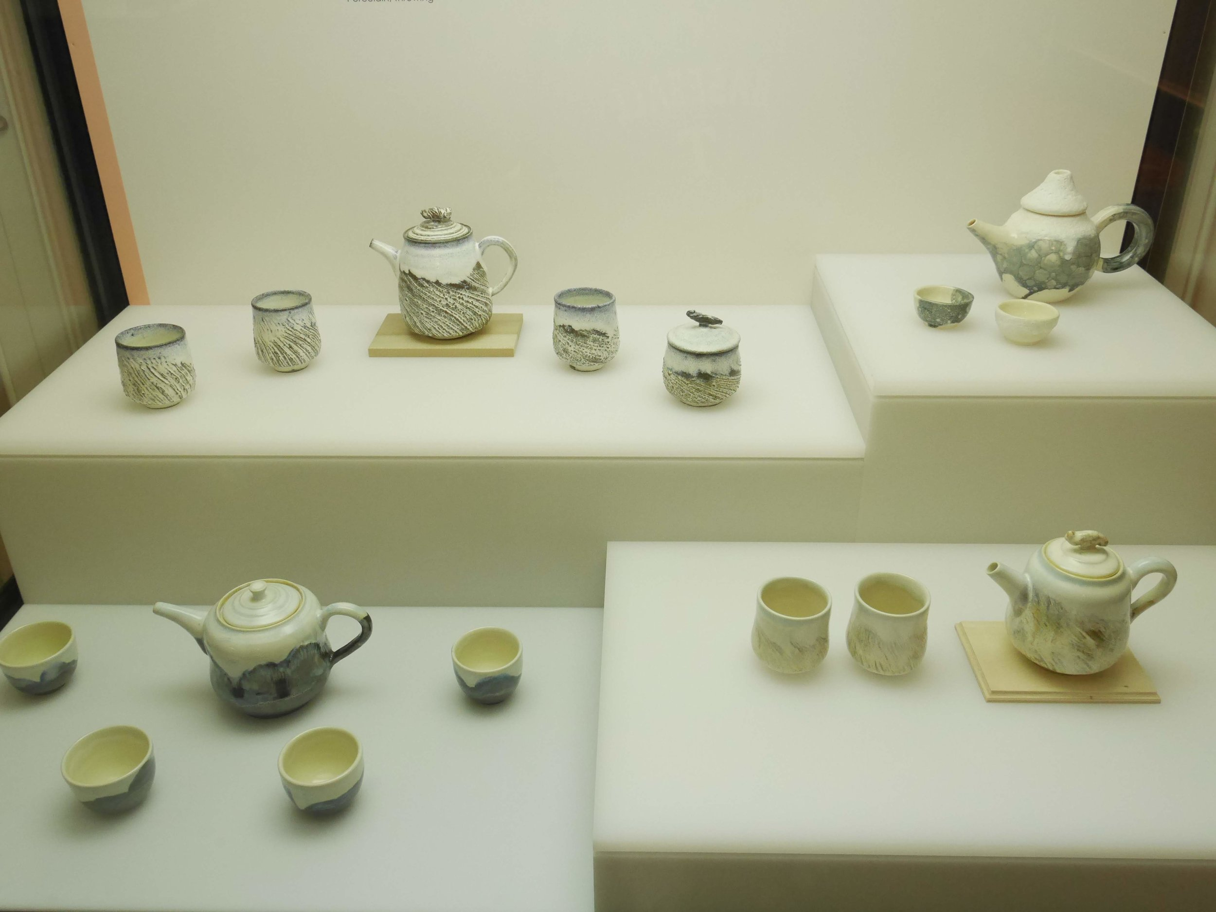 tea sets on display at the Flagstaff Museum