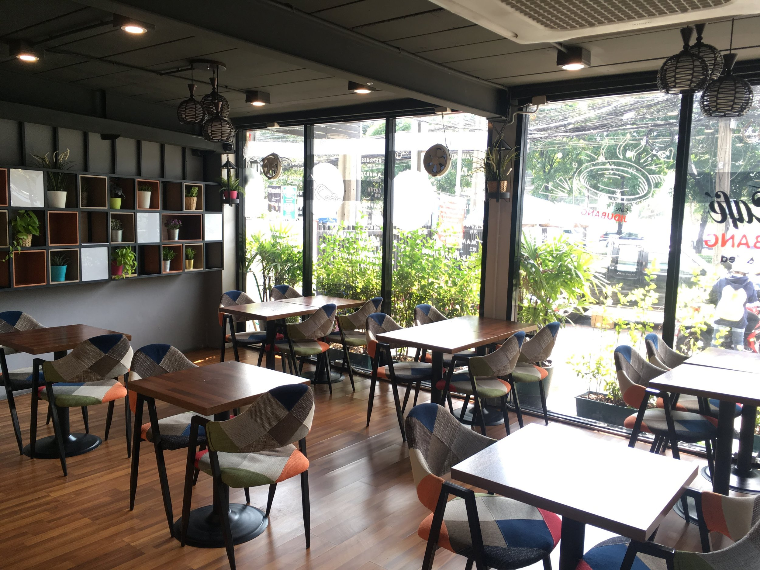 a small cafe inside the JidubanG Korean Market, Bangkok, Thailand