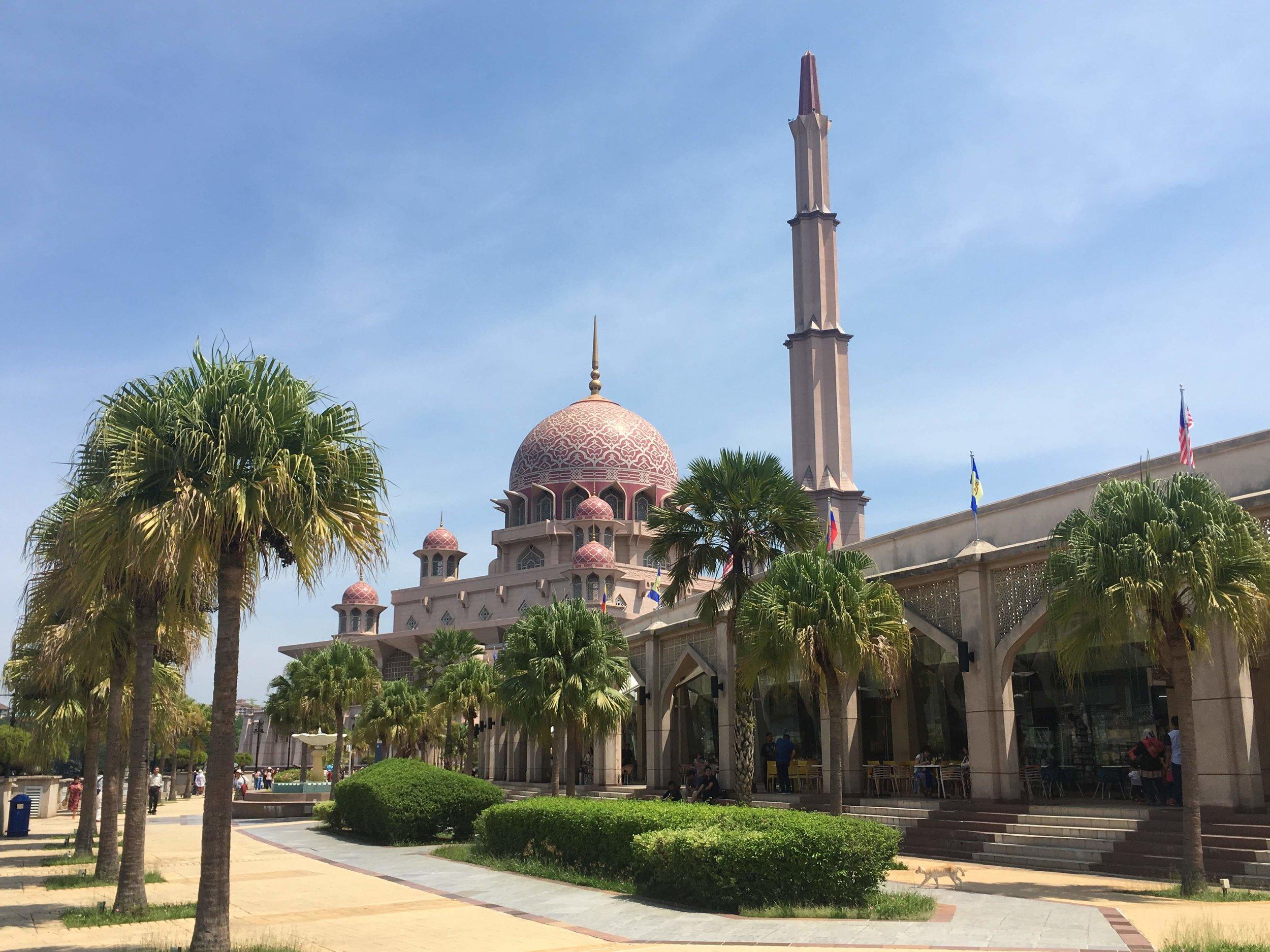 the Masjid Putra in Putrajaya, Malaysia