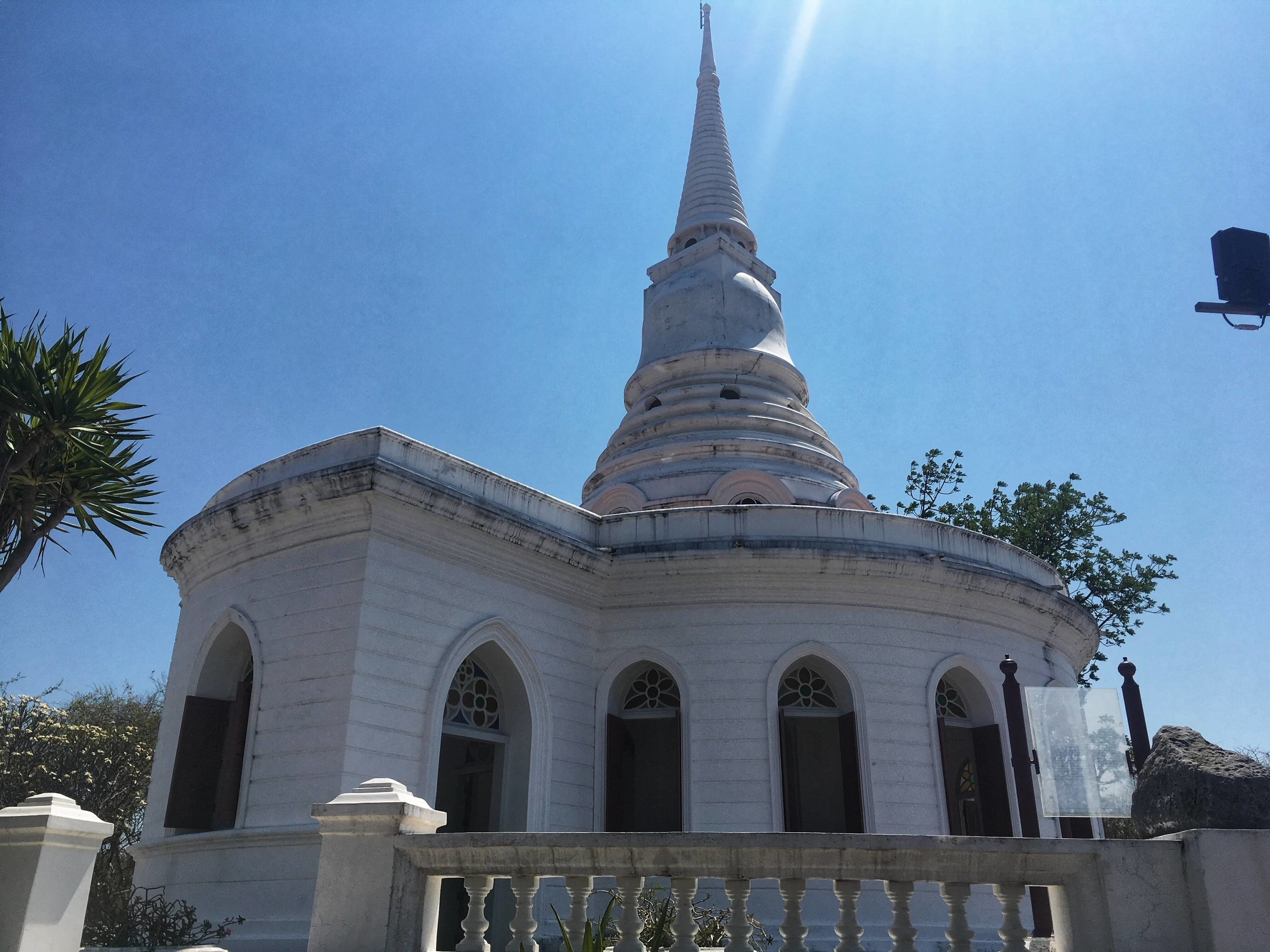 a western-style Buddhist temple on Koh Sichang Island was designed to look like a church