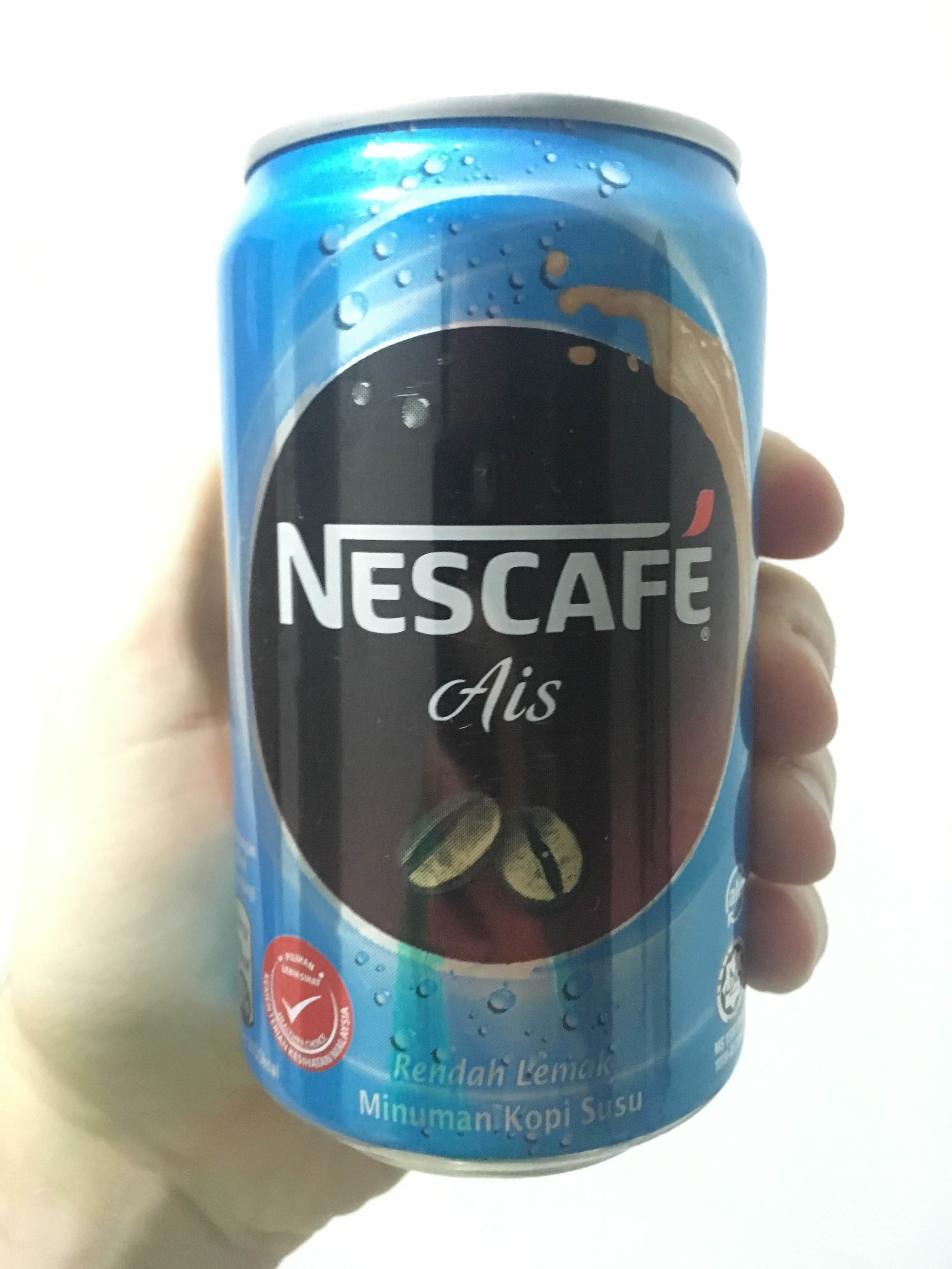 Nescafe Ais from Malaysia - cooling canned coffee