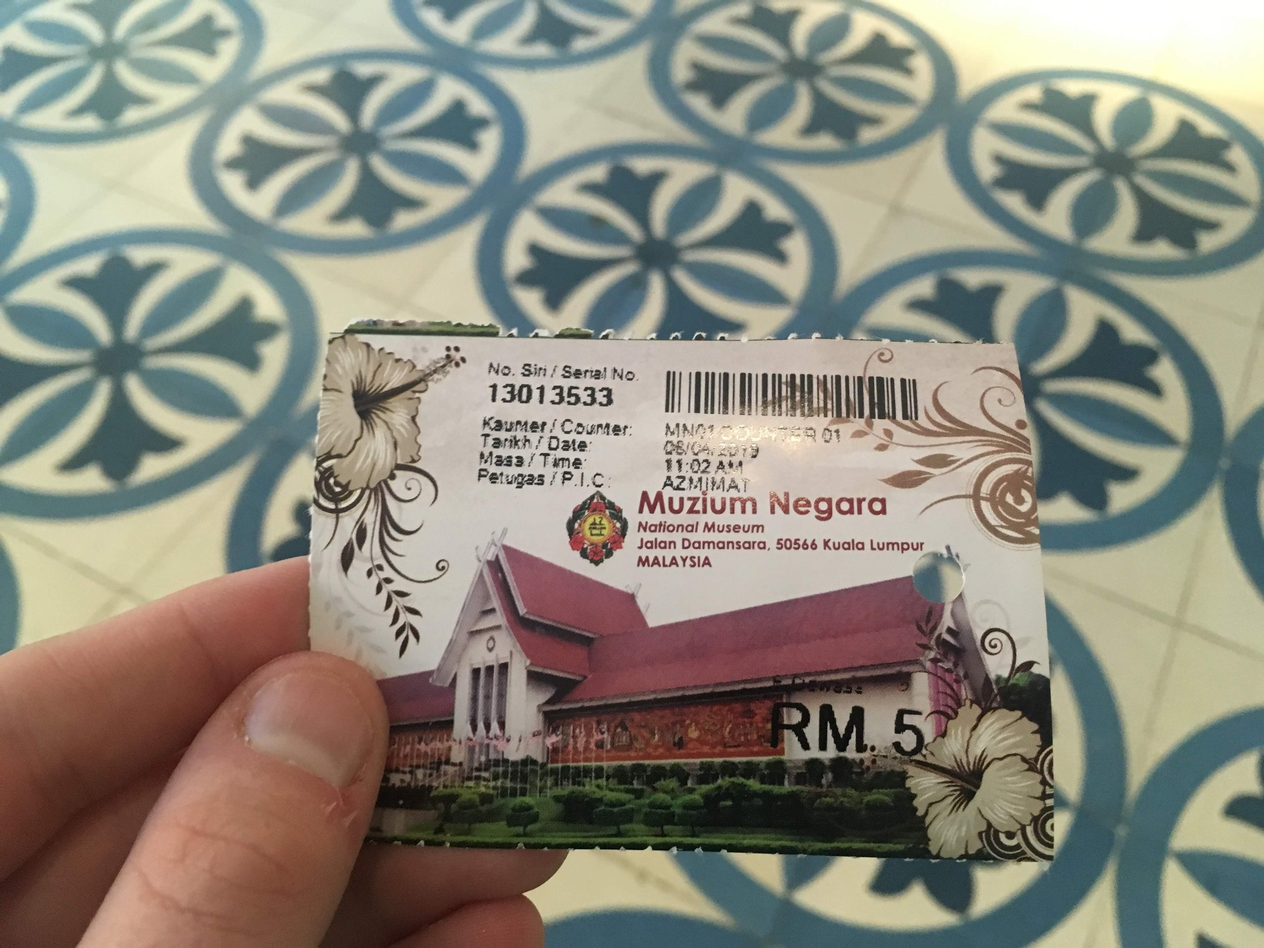 a ticket to the National Museum of Malaysia costs just 5 ringgit