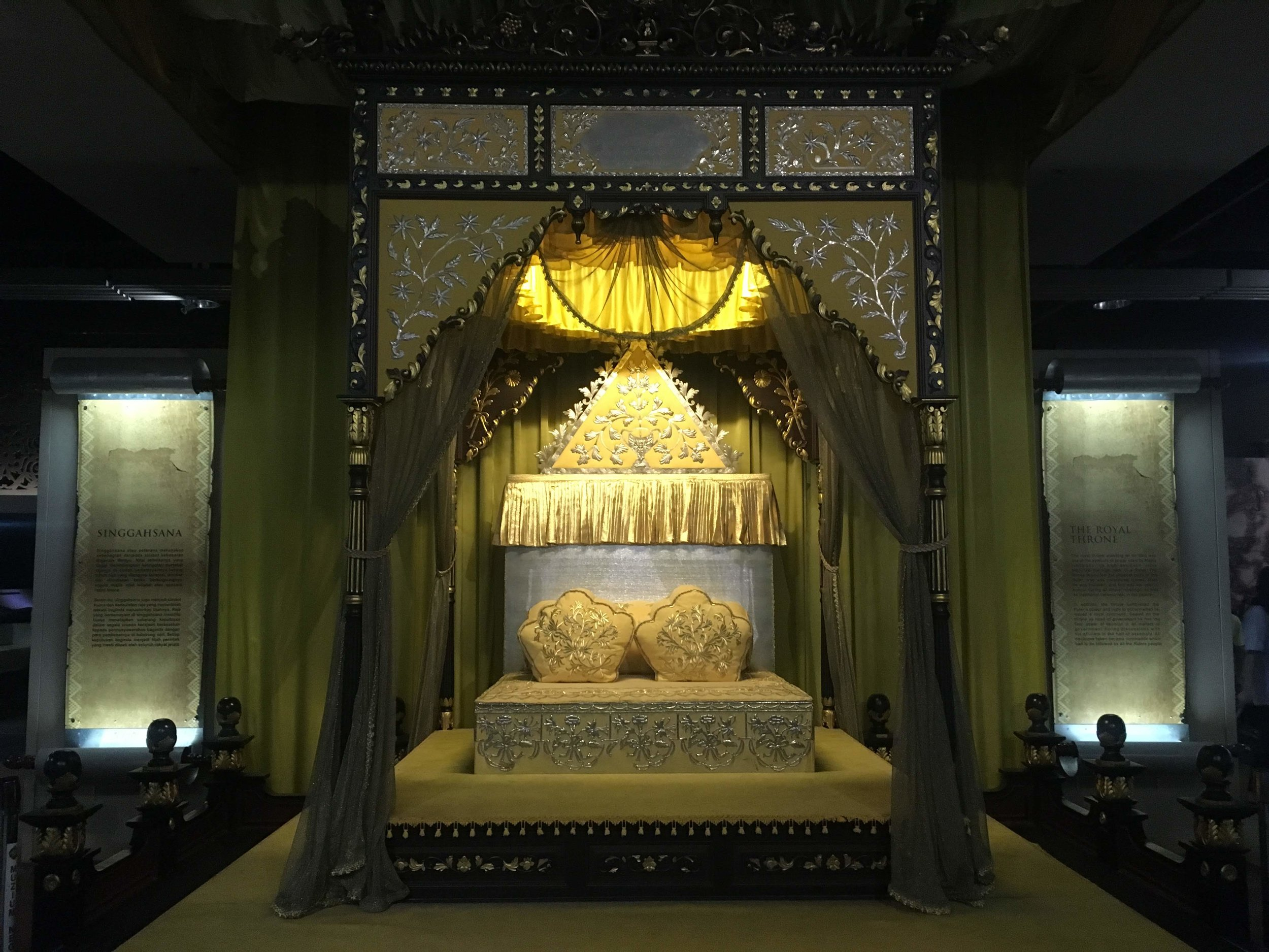 throne of a Malay sultan at the KL National Museum