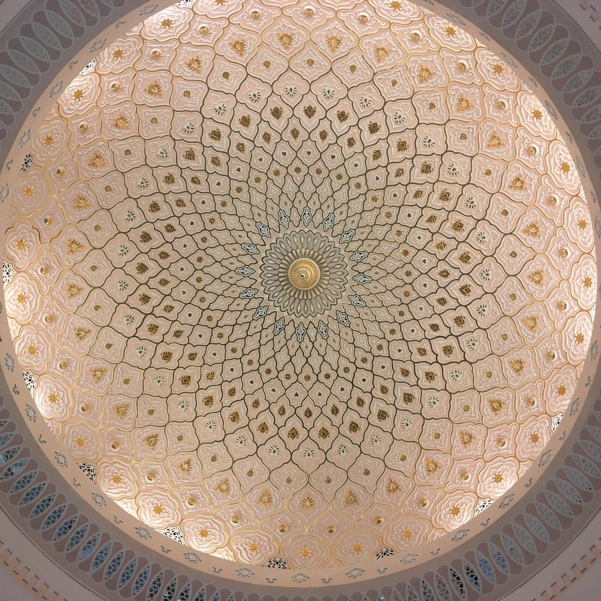ceiling dome at the Islamic Arts Museum in Kuala Lumpur, Malaysia